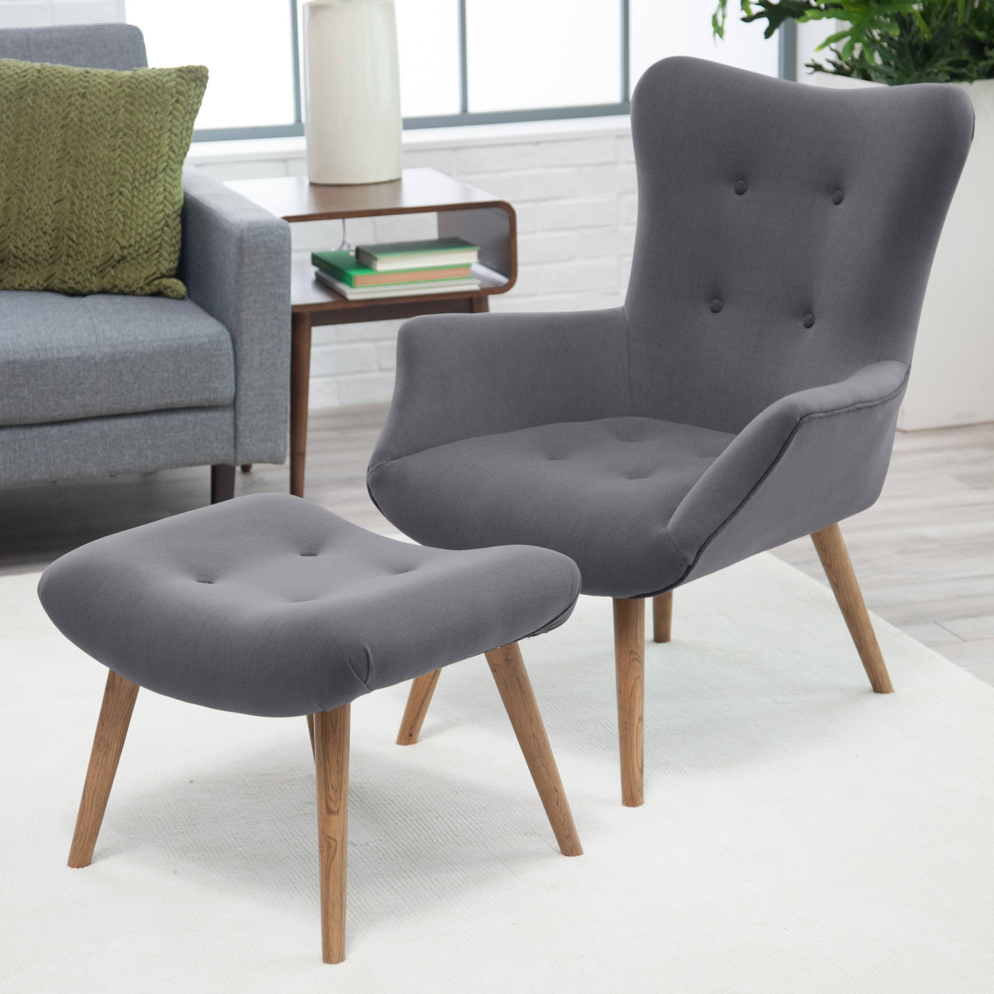Bedroom: Fascinating Mid Century Modern Chairs Make Your Elegant in Grey Sofa Chairs (Image 1 of 30)
