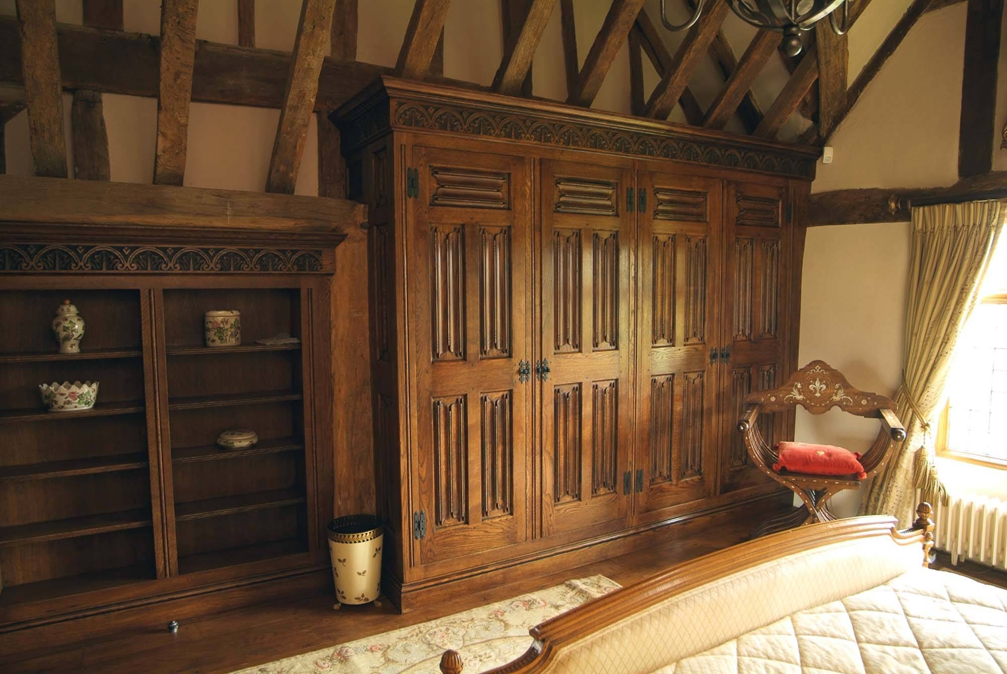 Bedroom Furniture : Antique Armoire Oak Wardrobes Uk Beautiful within Oak Wardrobes For Sale (Image 4 of 15)