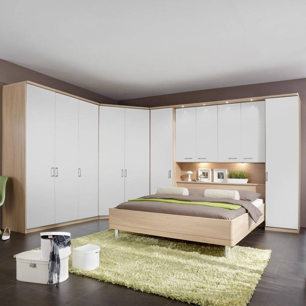 Bedroom Furniture : Bedroom Cupboards Two Beds In One Light Wood with regard to Over Bed Wardrobes Sets (Image 4 of 15)