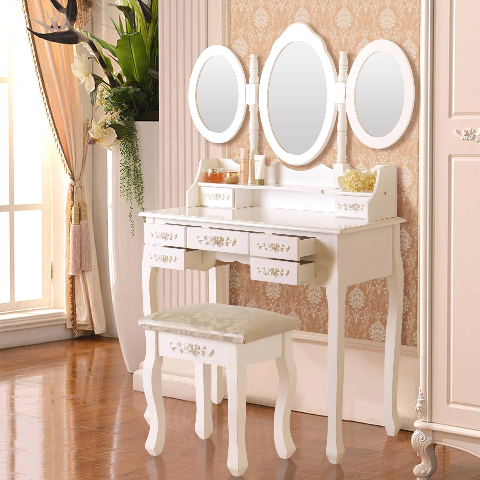 Bedroom Furniture : Dressing Table Diy Small Table Mirror Table intended for Decorative Dressing Table Mirrors (Image 2 of 25)