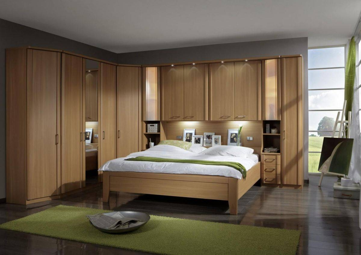 Bedroom Furniture : Floor Bed Ideas Above The Bed Decor Wardrobes throughout Wardrobes Beds (Image 3 of 15)