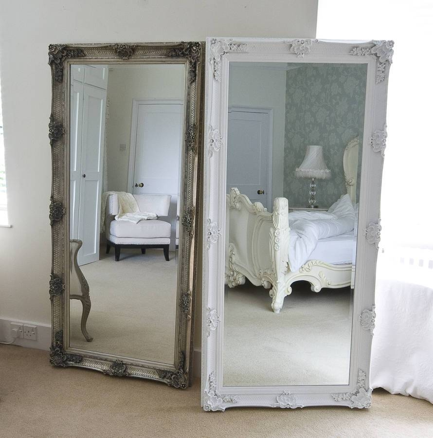 Bedroom Furniture : Floor Mirror White Floor Mirror Shabby Chic For Shabby Chic Round Mirrors (View 4 of 25)