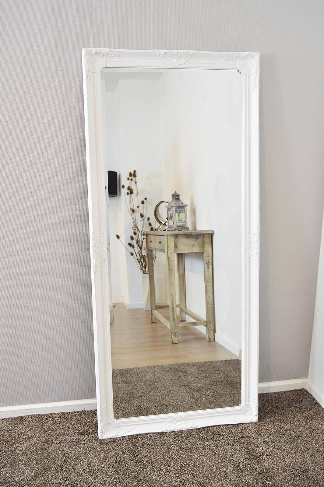Bedroom Furniture : Floor Mirror White Floor Mirror Shabby Chic with Large Shabby Chic Mirrors (Image 1 of 25)