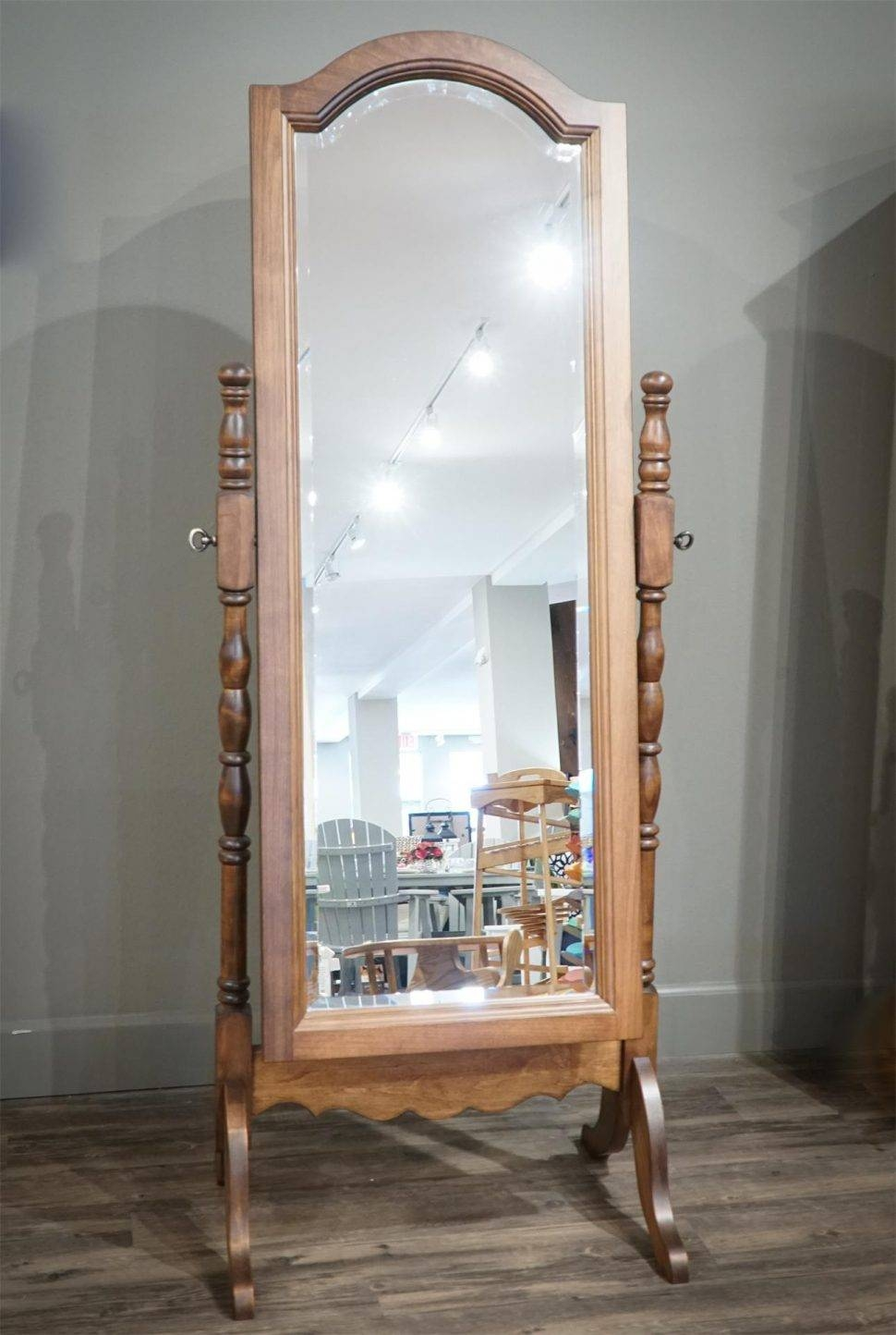 Bedroom Furniture : Free Standing Mirror Wood Framed Mirrors with Free Standing Mirrors With Drawer (Image 2 of 25)