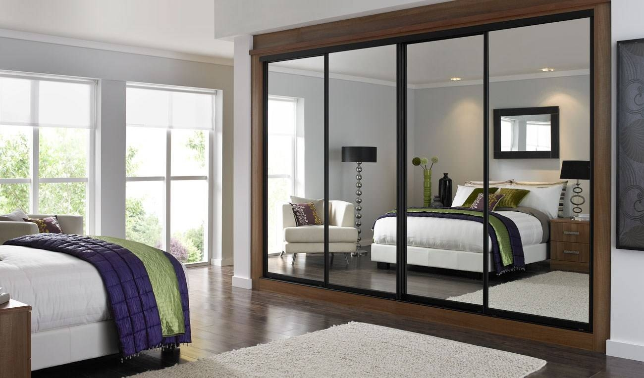 Bedroom Furniture : Full Mirrored Wardrobe White Mirrored Wardrobe regarding Full Mirrored Wardrobes (Image 2 of 15)