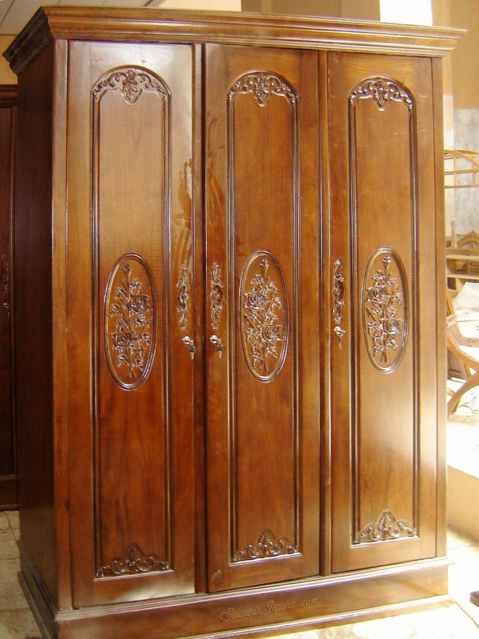 Bedroom Furniture : Gentleman's Wardrobe Armoire Antique For Sale regarding French Wardrobes For Sale (Image 8 of 15)