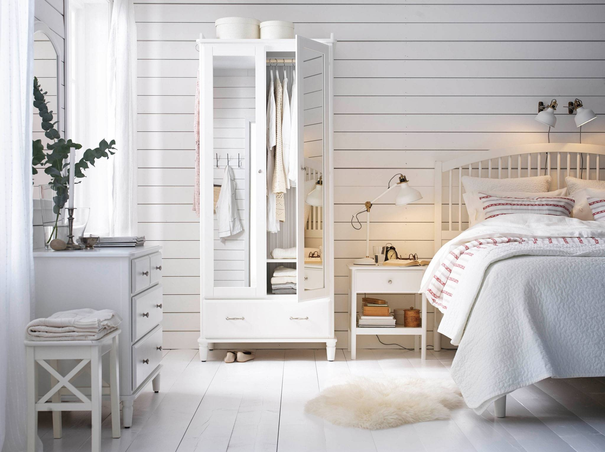 Bedroom Furniture & Ideas | Ikea Ireland within Cheap White Wardrobes Sets (Image 3 of 15)