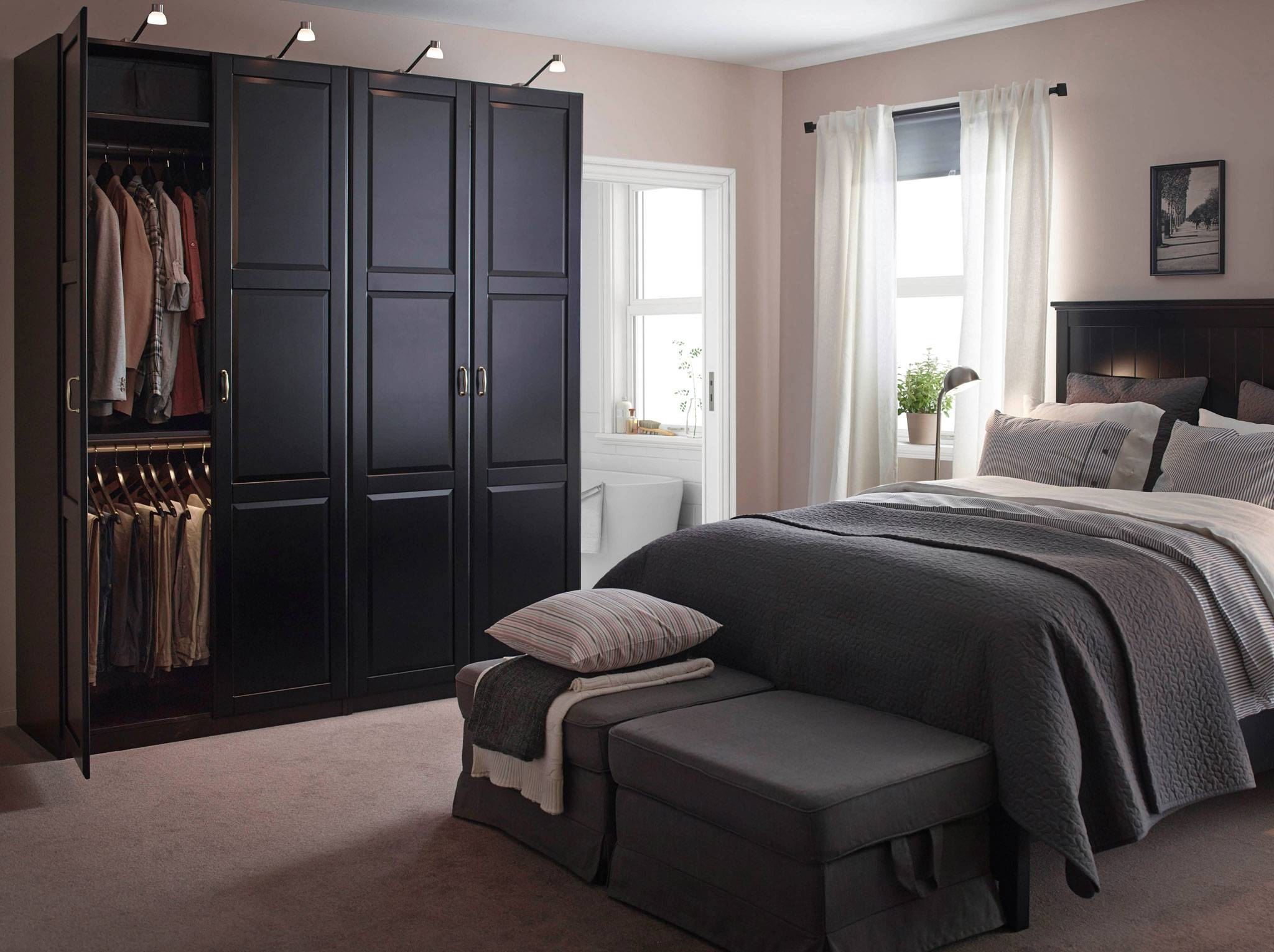Bedroom Furniture & Ideas | Ikea regarding Dark Wood Wardrobe With Drawers (Image 4 of 30)