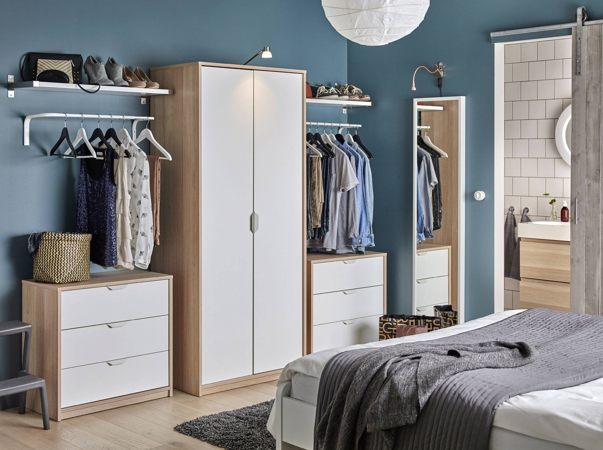 Bedroom Furniture & Ideas | Ikea within Cheap Wardrobes Sets (Image 2 of 15)