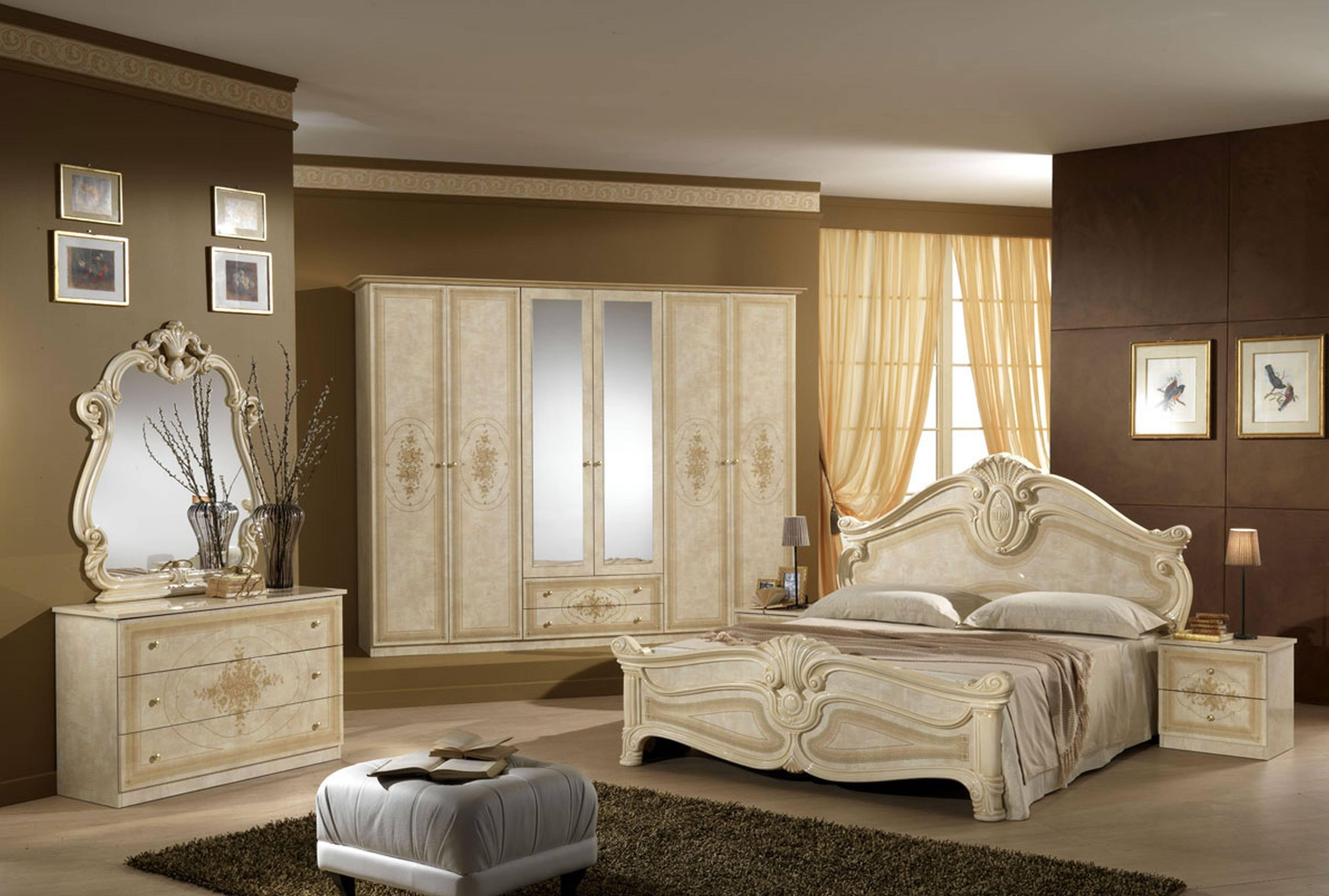Bedroom Furniture : Purple Glossy Elegant Bedroom Armoire Modern within Dark Wood Wardrobe Sets (Image 16 of 30)