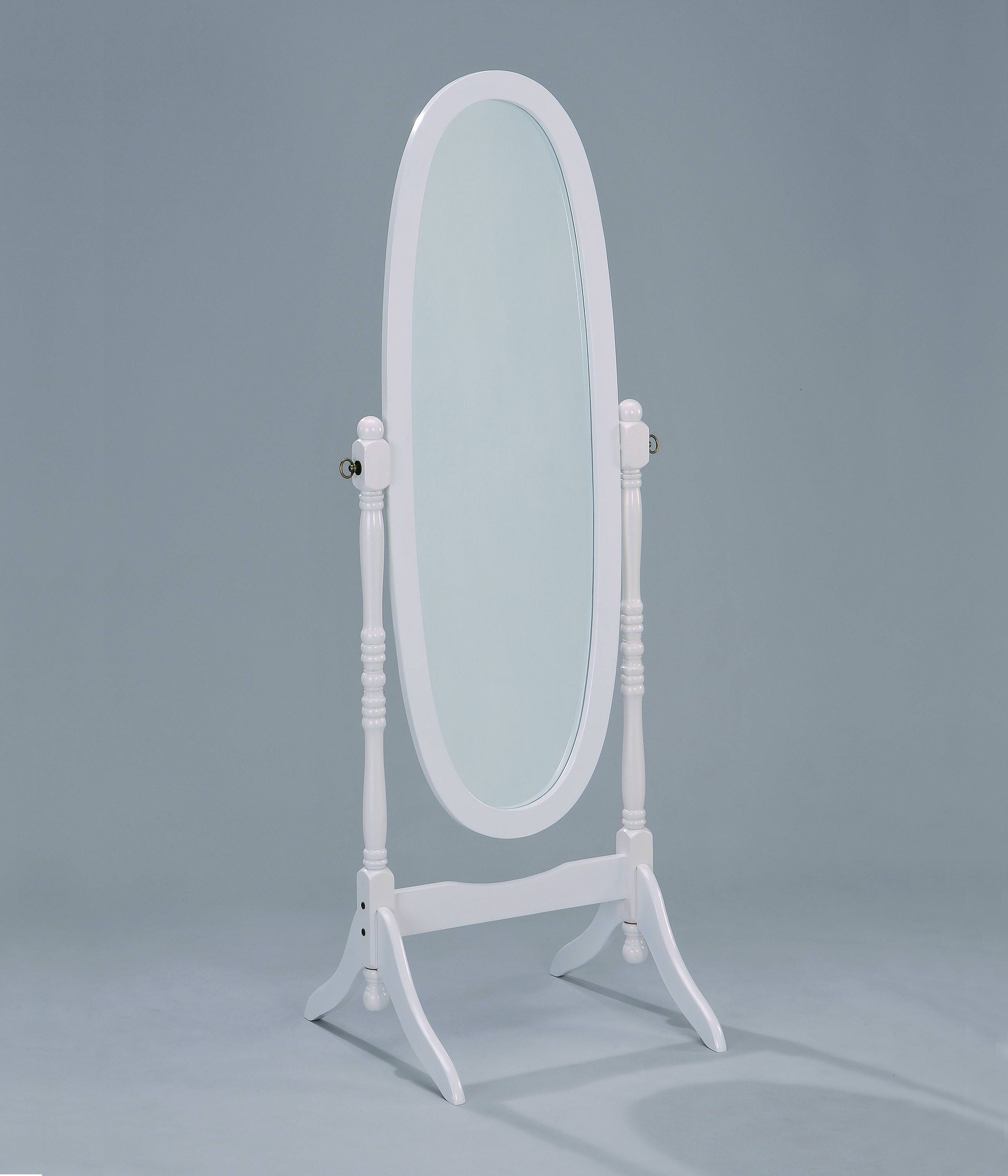 Bedroom Furniture Sets : Arch White Large Standing Mirror For inside Free Standing Oval Mirrors (Image 6 of 25)
