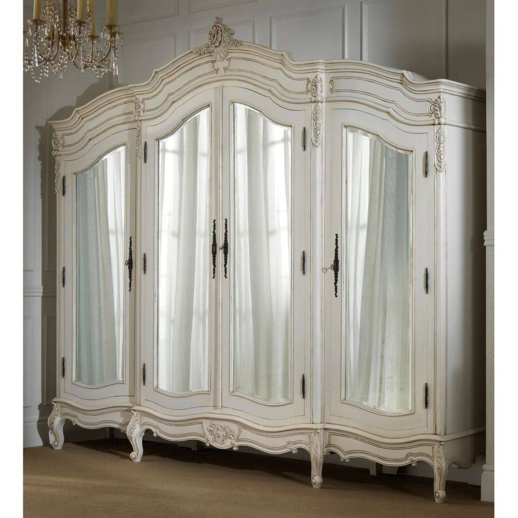 Bedroom Furniture Sets : Armoire Wardrobe Closet Tall Wardrobe for White French Armoire Wardrobes (Image 3 of 15)