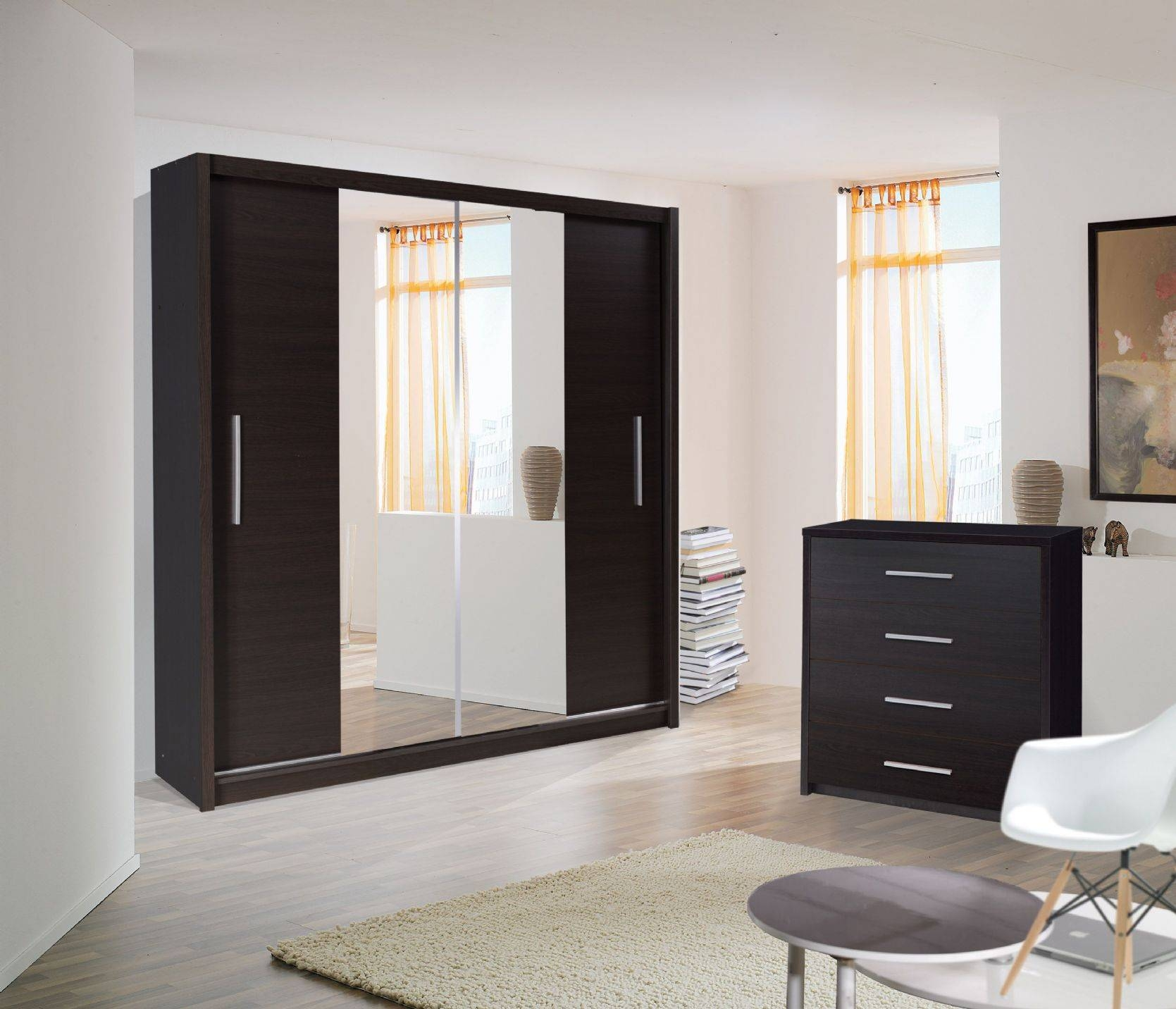 Bedroom Furniture Sets : Wardrobe Bed Sliding Door For Bedroom inside 1 Door Mirrored Wardrobes (Image 1 of 15)