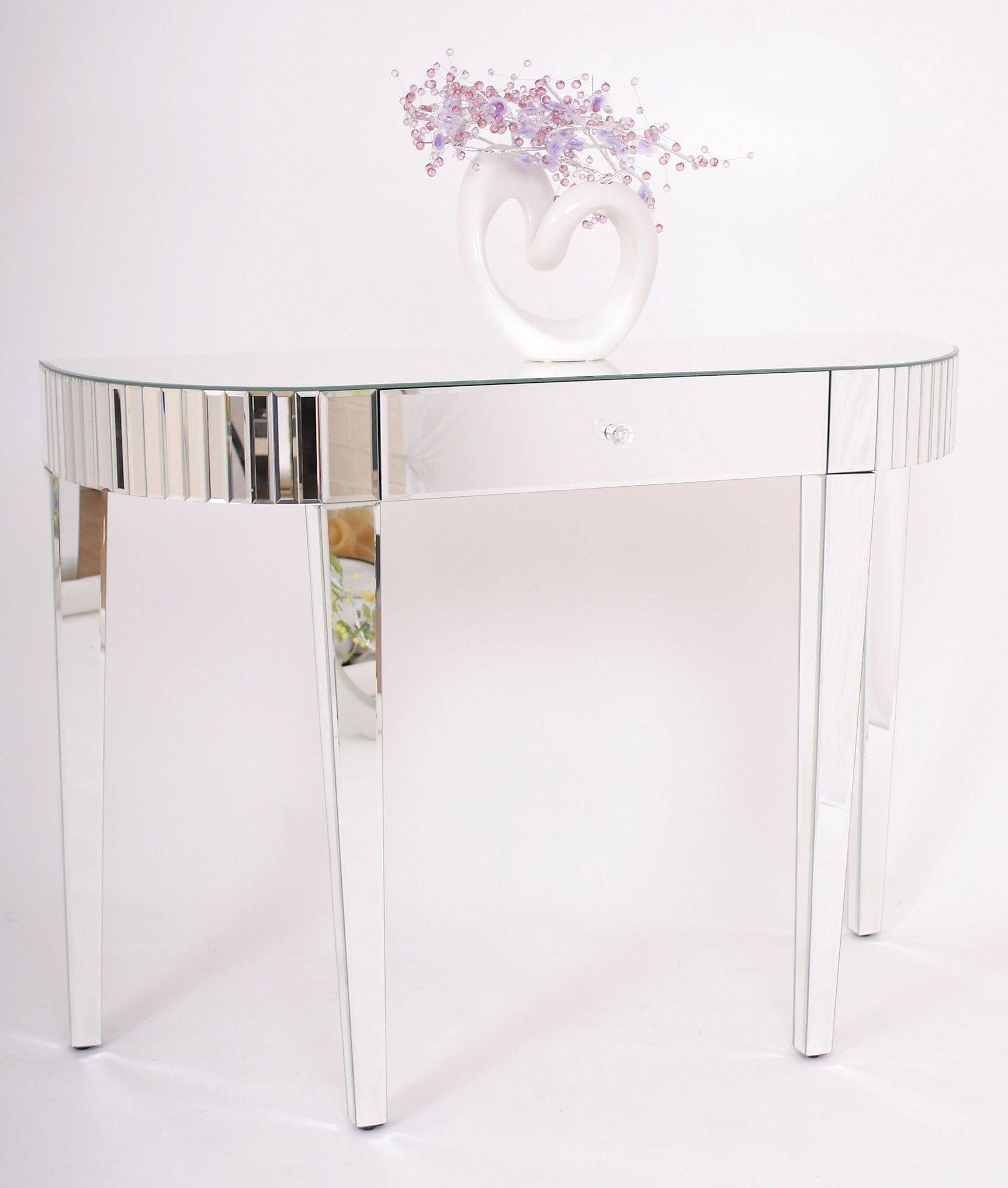 Bedroom Furniture : Slim Console Table Side Table Mirror Table with regard to Small Table Mirrors (Image 1 of 25)