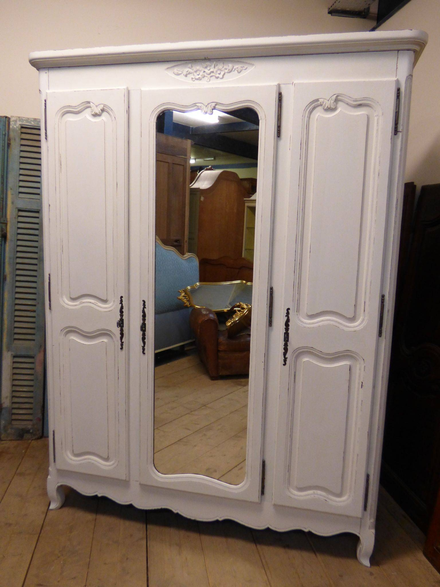 Bedroom Furniture - The French Depot within Vintage French Wardrobes (Image 5 of 15)