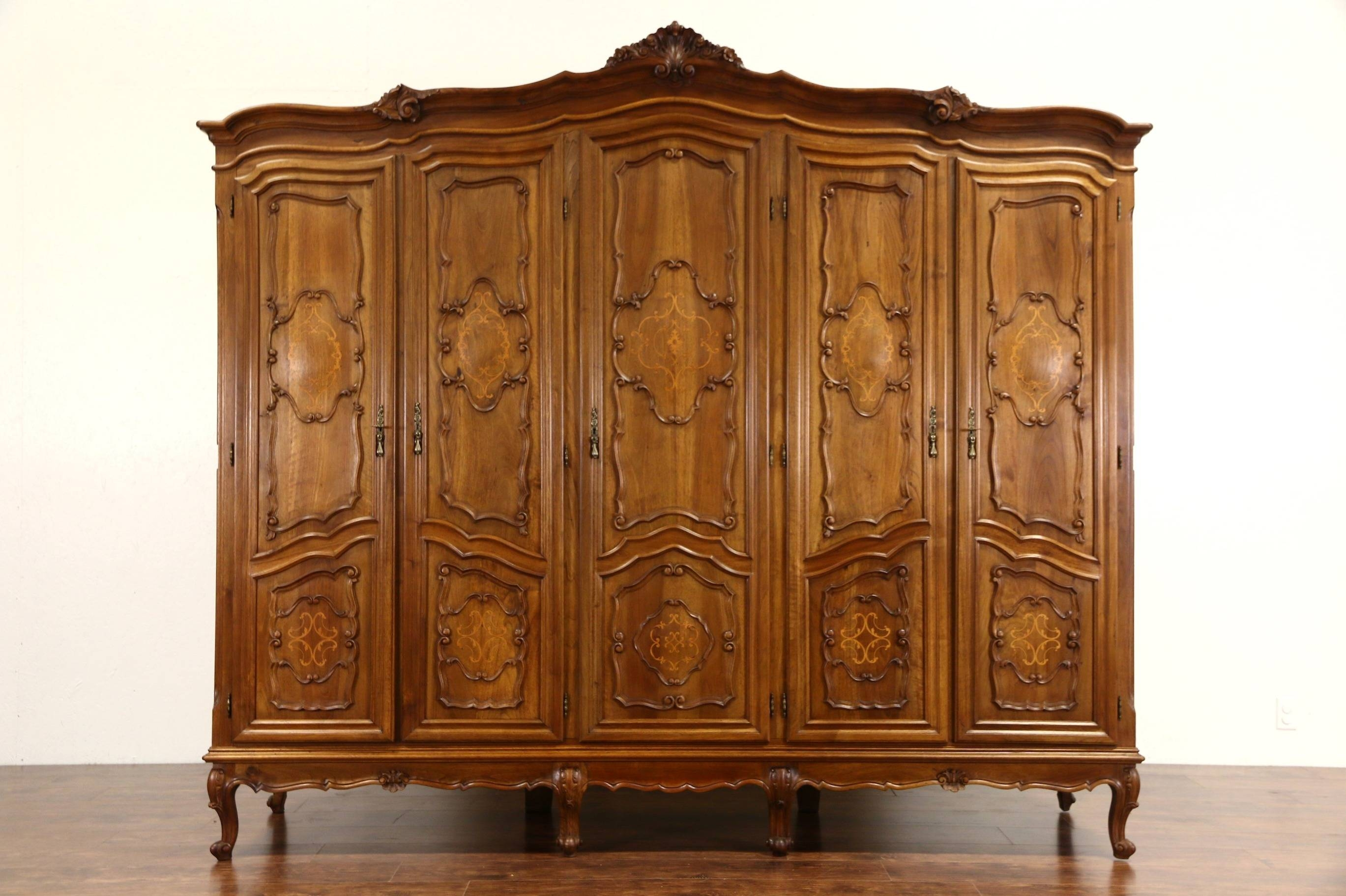 Bedroom Furniture : Victorian Armoire Oak Armoire Beautiful Wooden inside Victorian Wardrobes for Sale (Image 8 of 15)