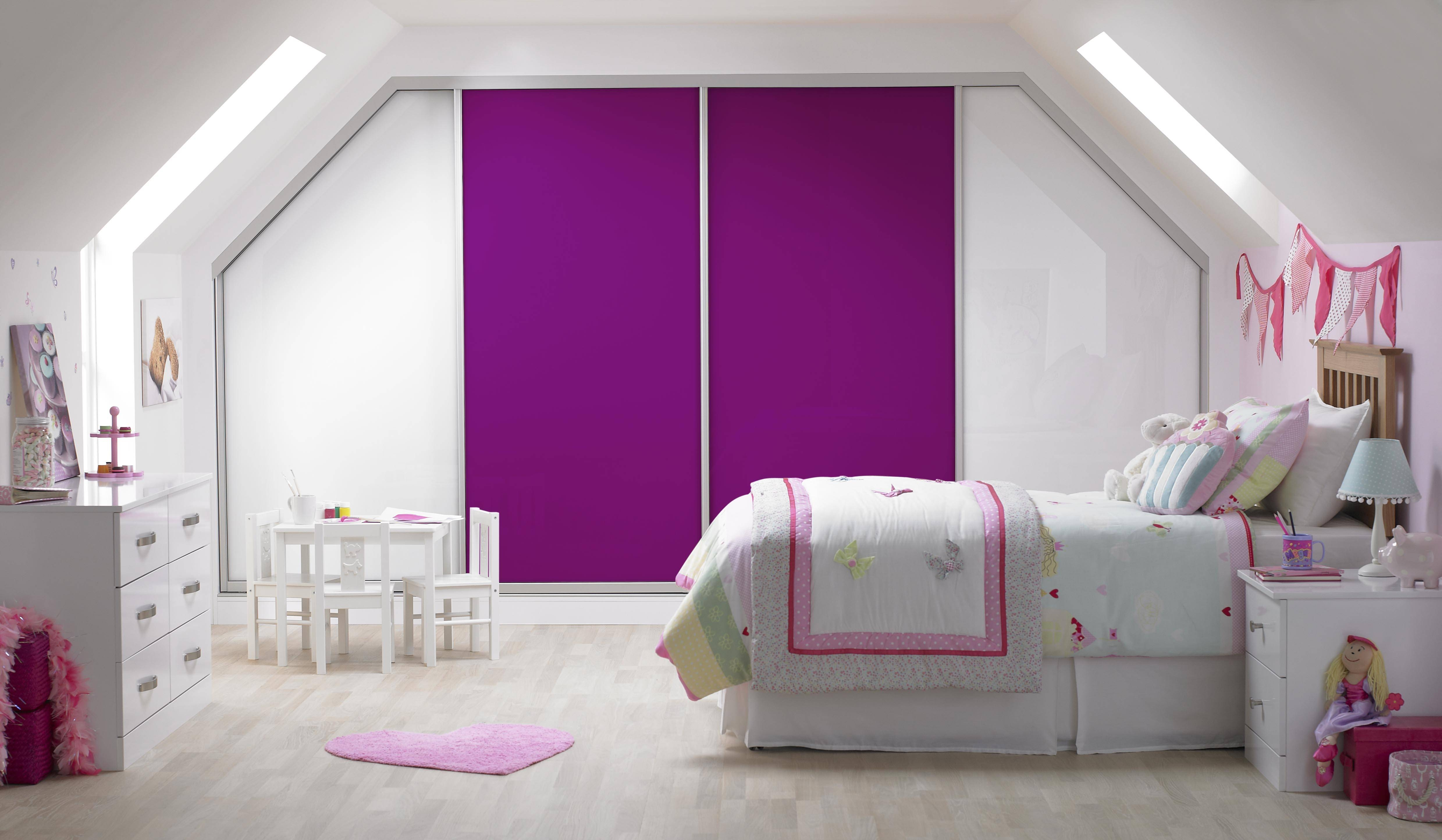 Bedroom Furniture : Wardrobe Cabinet Purple Glossy Wardrobes Short throughout Childrens Pink Wardrobes (Image 6 of 30)