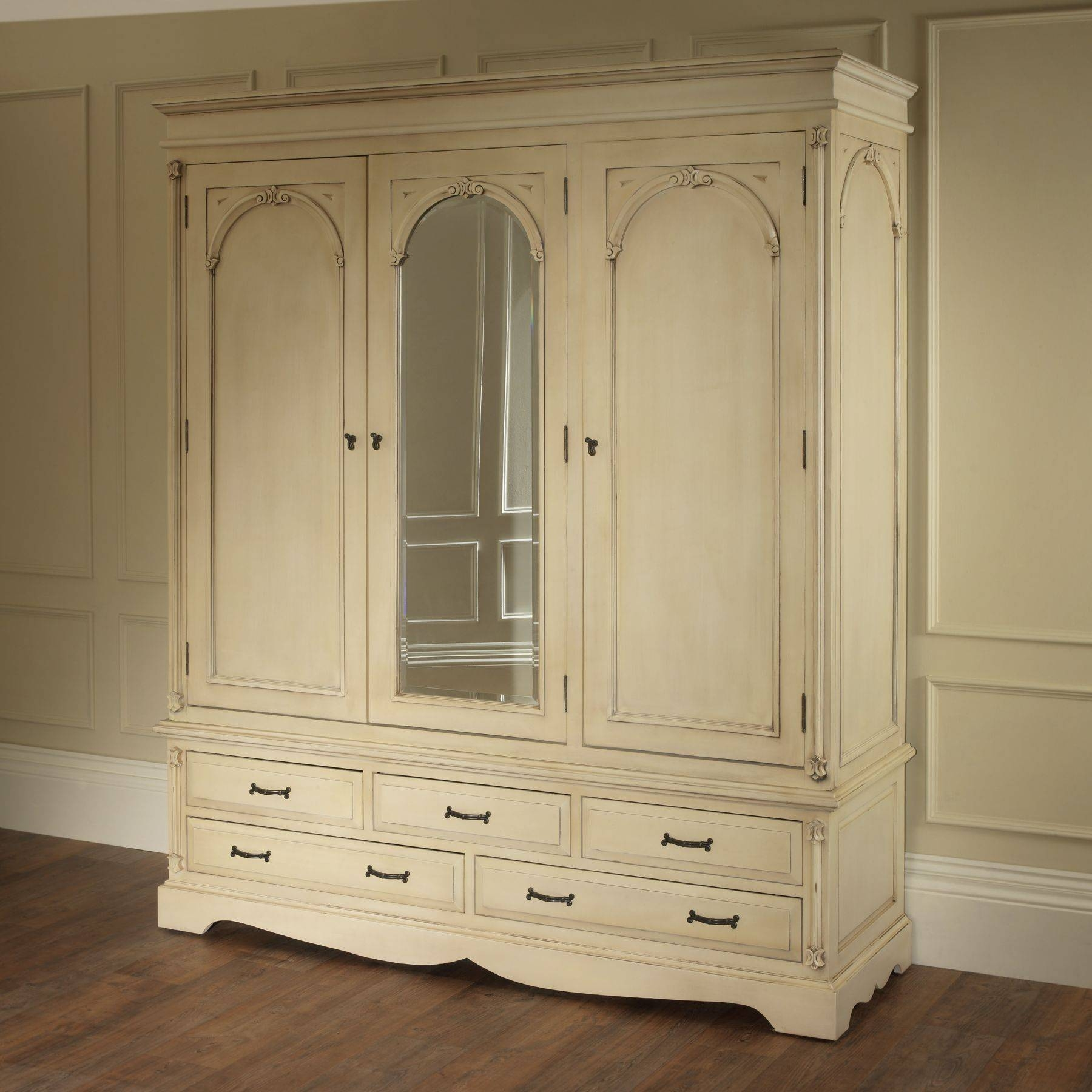 Bedroom Furniture : White Small Classic Armoire Wooden Vintage In White Vintage Wardrobes (View 2 of 15)