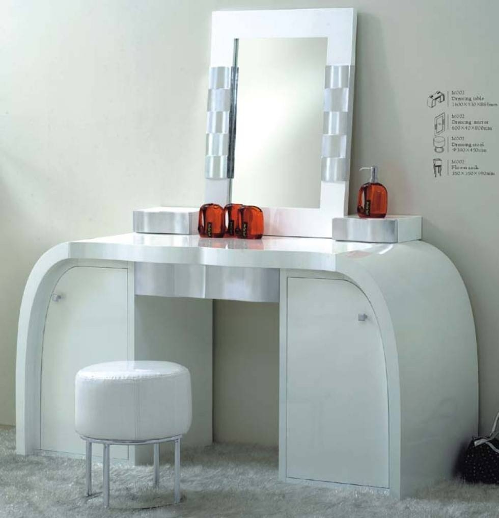 Bedroom Furniture : White Vanity Table Dressing Table With Mirror Inside Contemporary Dressing Table Mirrors (Photo 7 of 25)