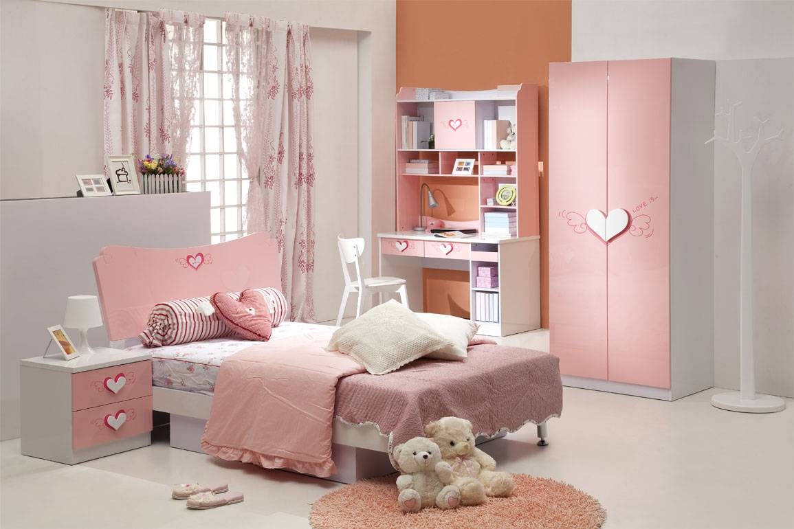 Bedroom : Girls Bedroom Top Notch Pink Girl Affordable Kid Bedroom throughout Childrens Pink Wardrobes (Image 4 of 30)