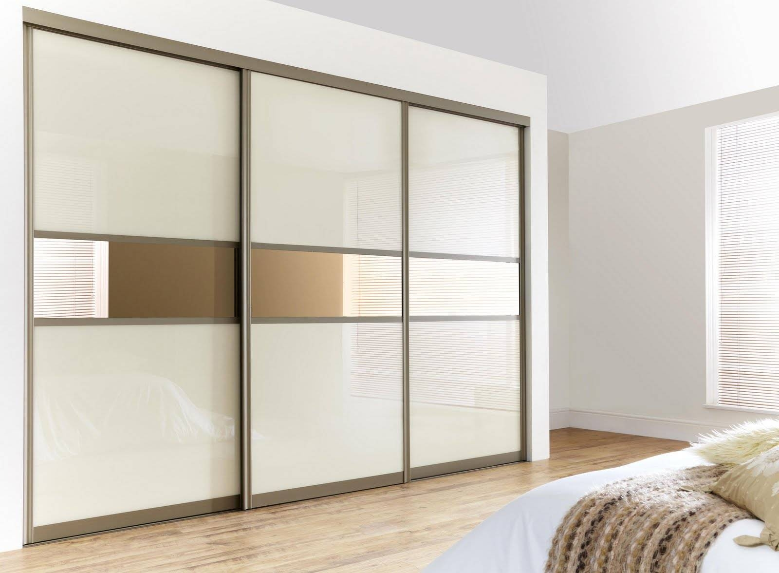 Bedroom. Glass Sliding Wardrobe Door In Black Color With White with regard to Curved Wardrobe Doors (Image 4 of 30)