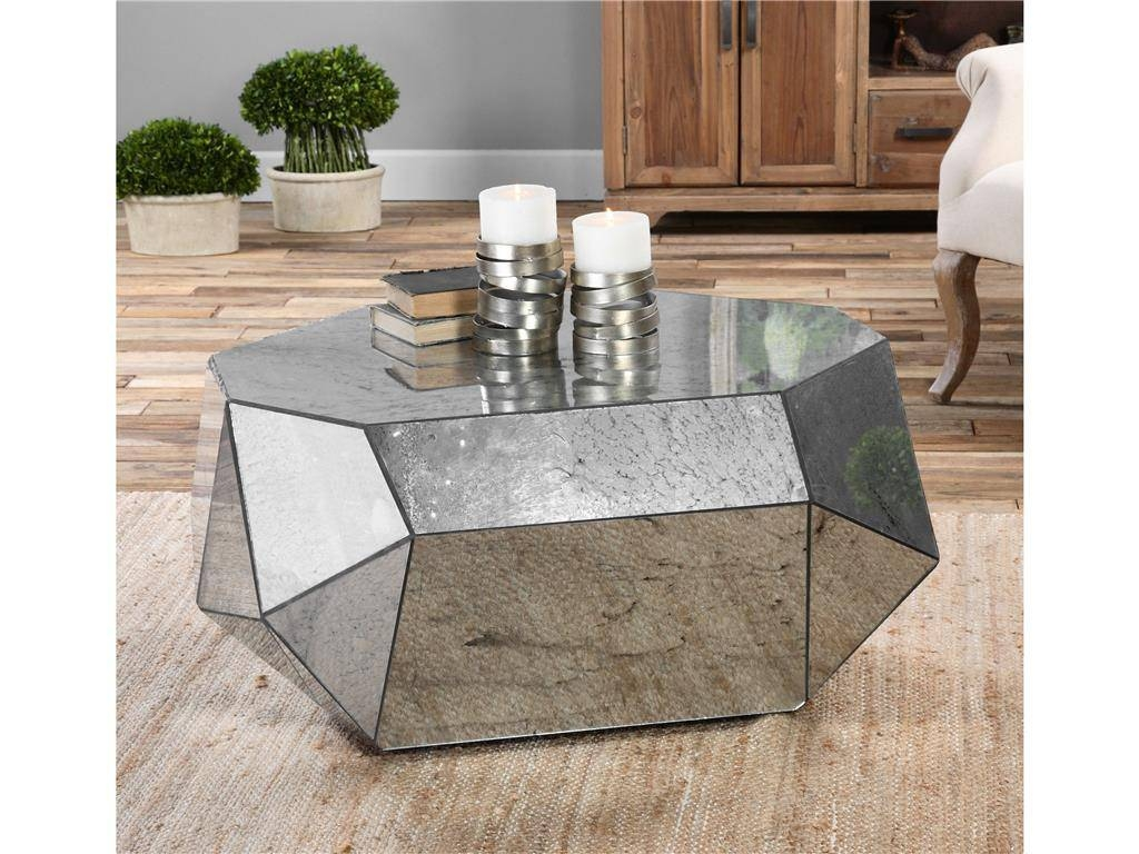 Bedroom Ideas : Round Antique Vintage Mirrored Dining Table Regarding Antique Mirrored Coffee Tables (View 15 of 30)