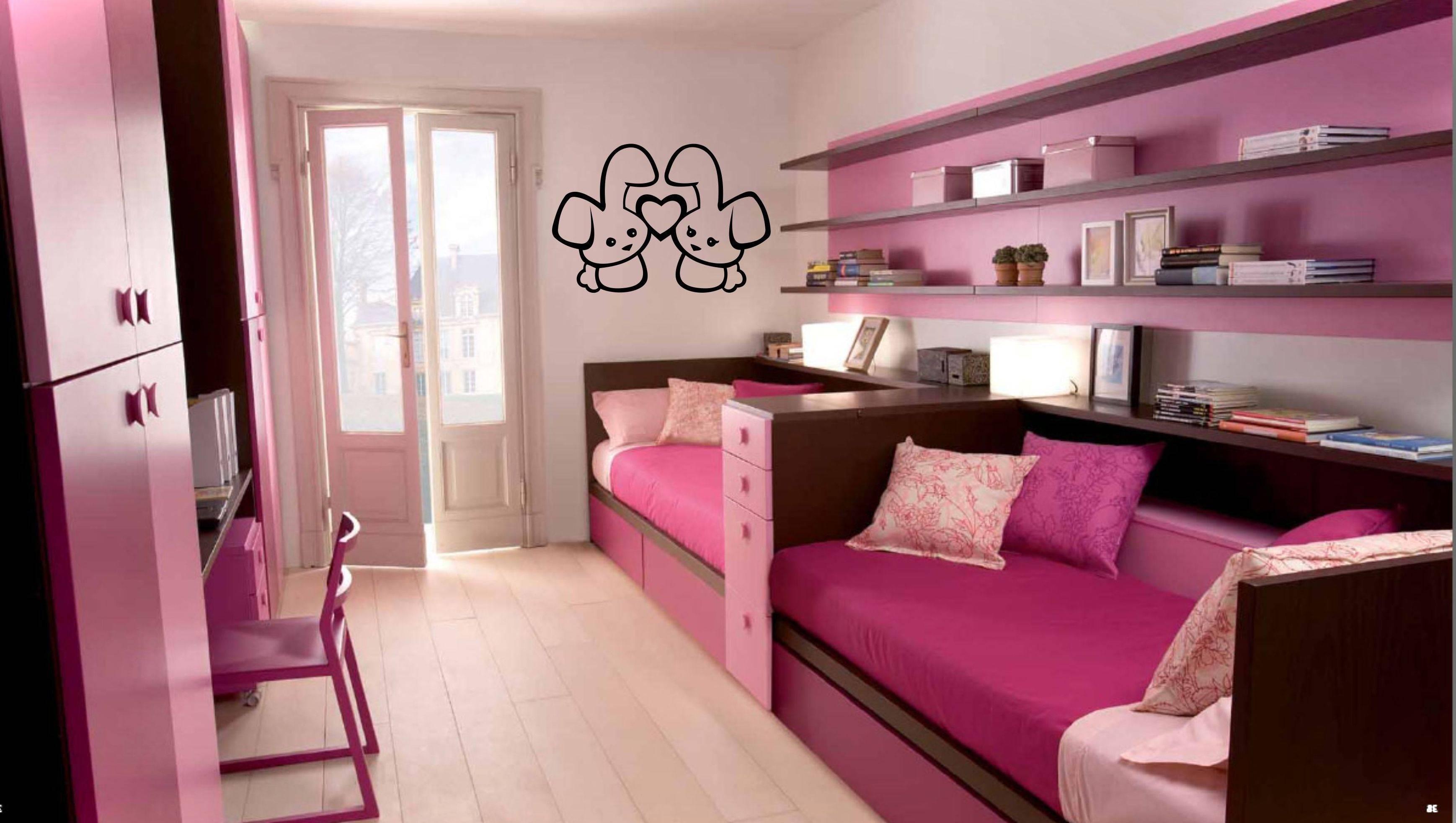 Bedroom : Impressive Girls Bedroom Sets Ideas White Color Platform in Dark Wood Wardrobe Sets (Image 7 of 30)