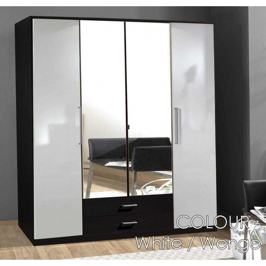 Bedroom: Interesting Brusali Wardrobe Cabinets For Your Bedroom pertaining to 4 Door Wardrobes With Mirror and Drawers (Image 2 of 15)