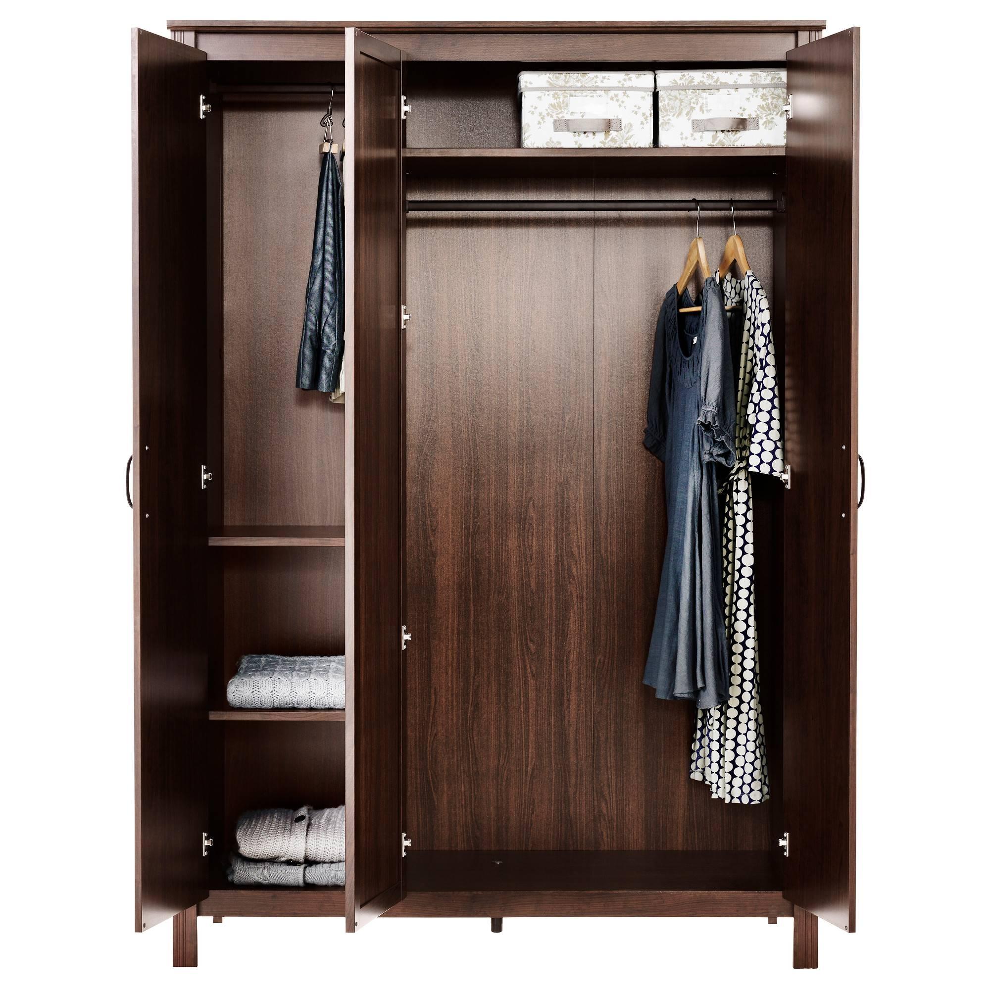 Bedroom: Interesting Brusali Wardrobe Cabinets For Your Bedroom regarding Cheap Wood Wardrobes (Image 4 of 15)