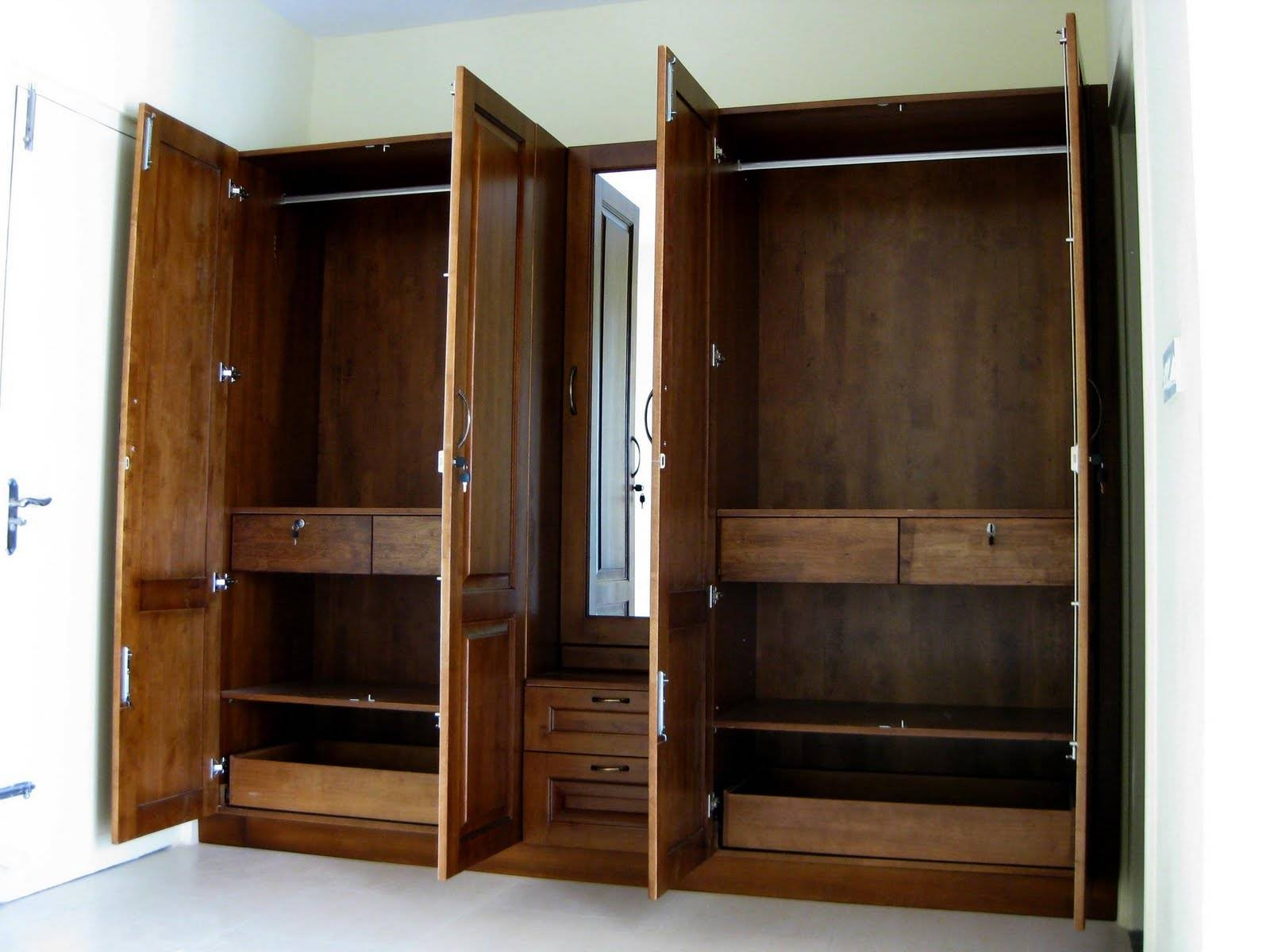 Bedroom: Interesting Brusali Wardrobe Cabinets For Your Bedroom within Solid Dark Wood Wardrobes (Image 4 of 30)