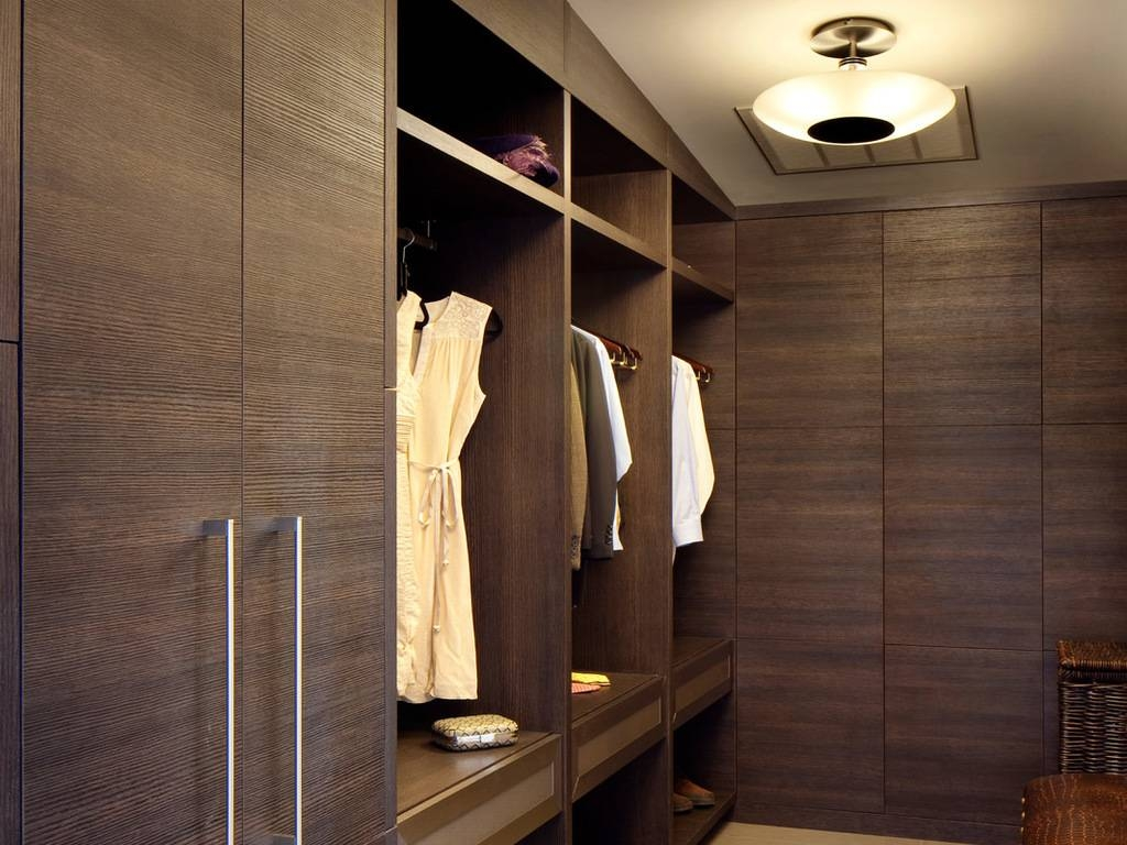 Bedroom: Mirror Panel Cabinets Chair Glam Glass Pendant Lights with Dark Wood Wardrobe Doors (Image 4 of 30)