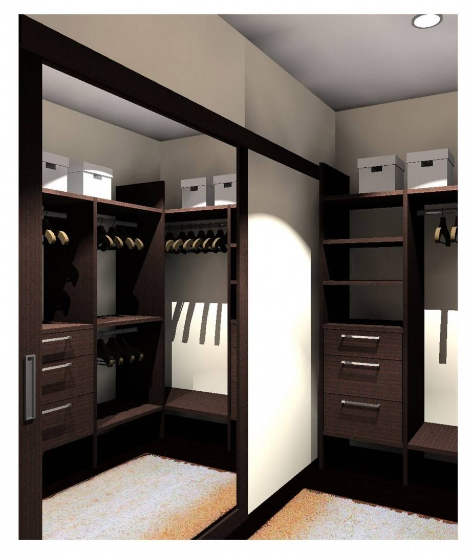 Bedroom : New Elegant Classic Mirror Closet Doors Inspiration With Regard To Dark Wood Wardrobe With Mirror (View 7 of 30)