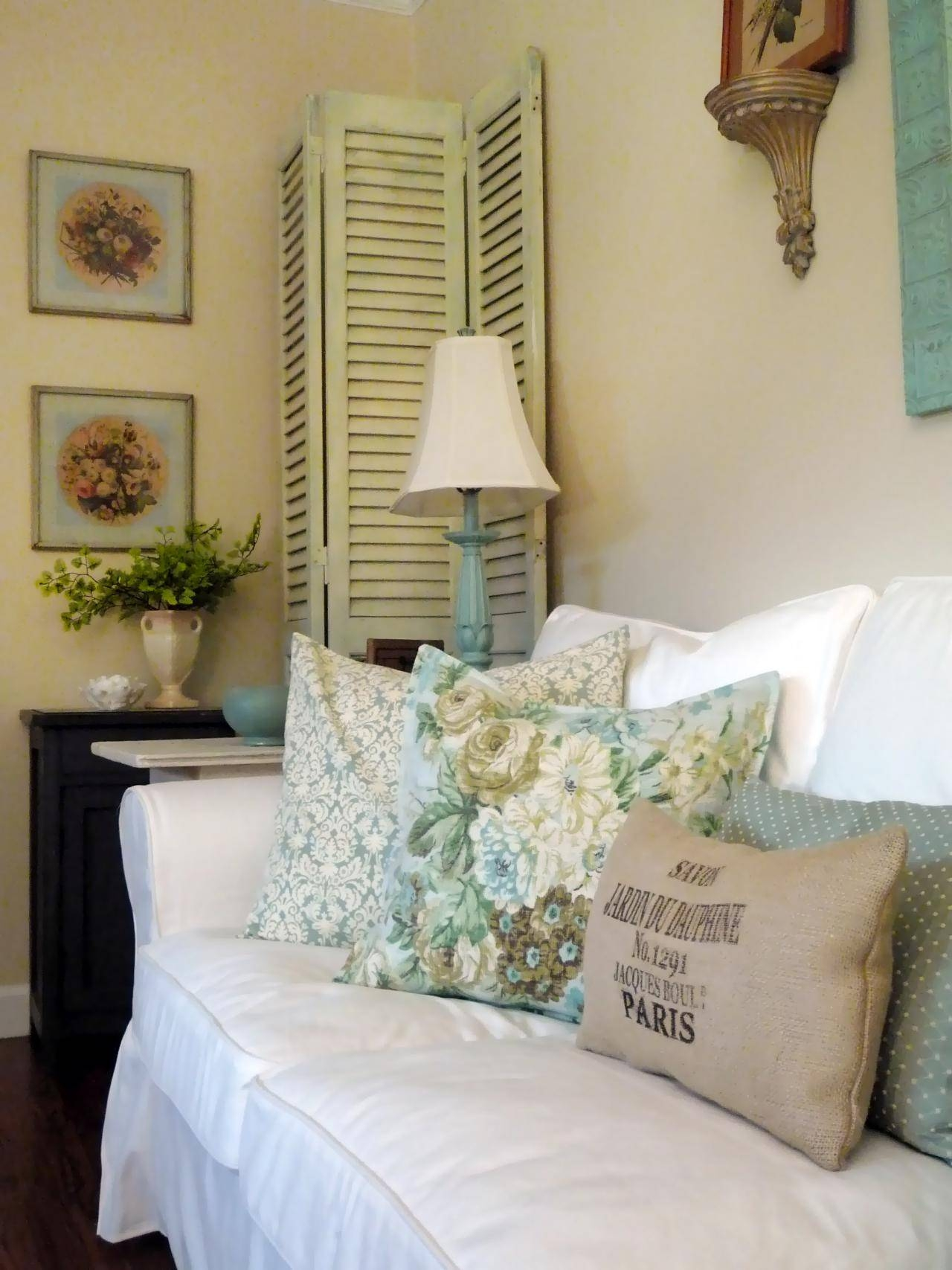 Bedroom : New Pure White Shabby Chic Interior Fur Sofa Slipcover Inside Shabby Chic Window Mirrors (View 6 of 25)
