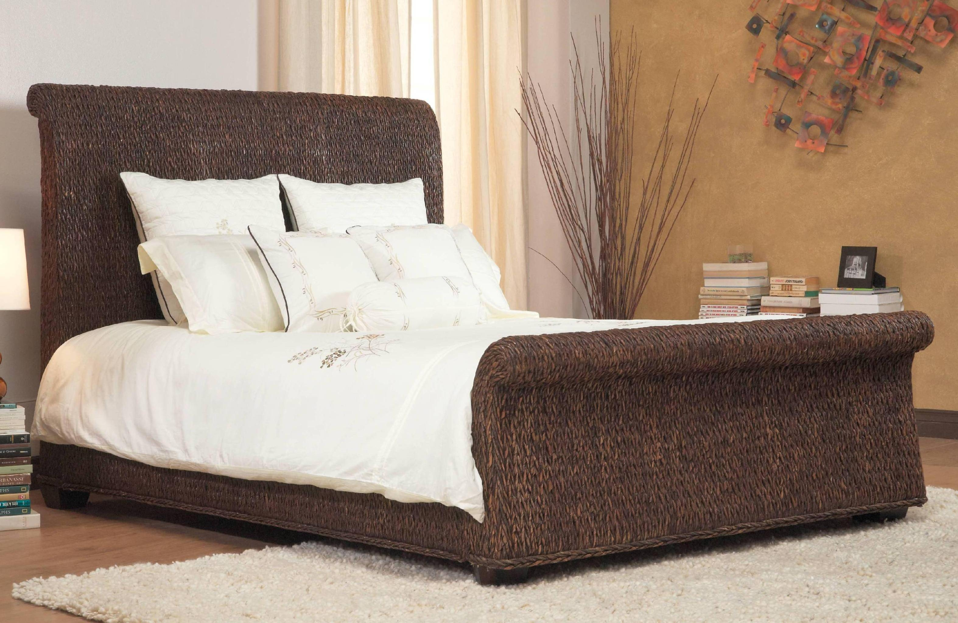 Bedroom: Rattan Bedroom Furniture With Mocha Rug And White within White Cane Sofas (Image 5 of 30)