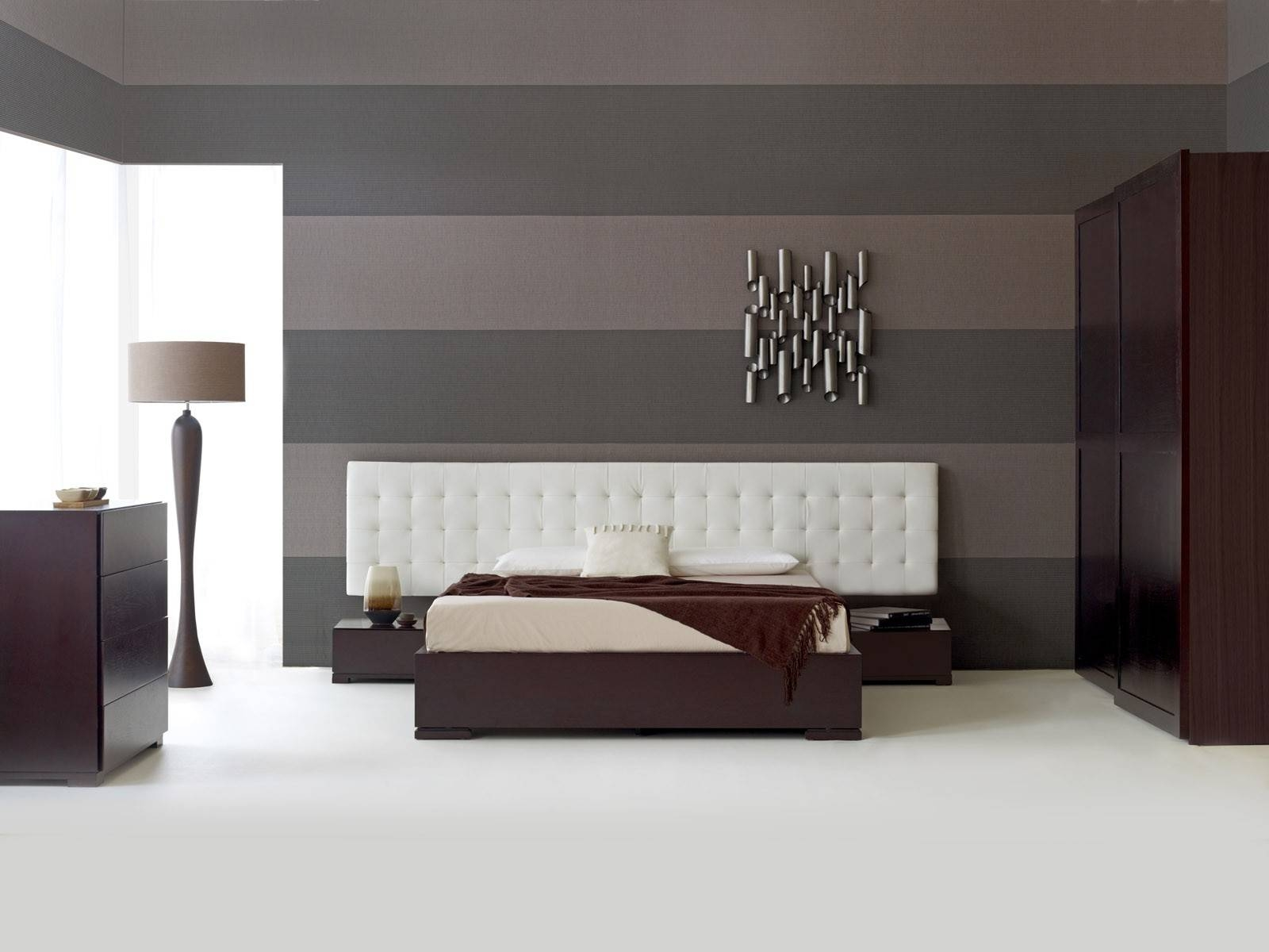 Bedroom : Wonderful Modern Bedroom Sets With Contemporary Beds with Dark Wood Wardrobe Sets (Image 14 of 30)