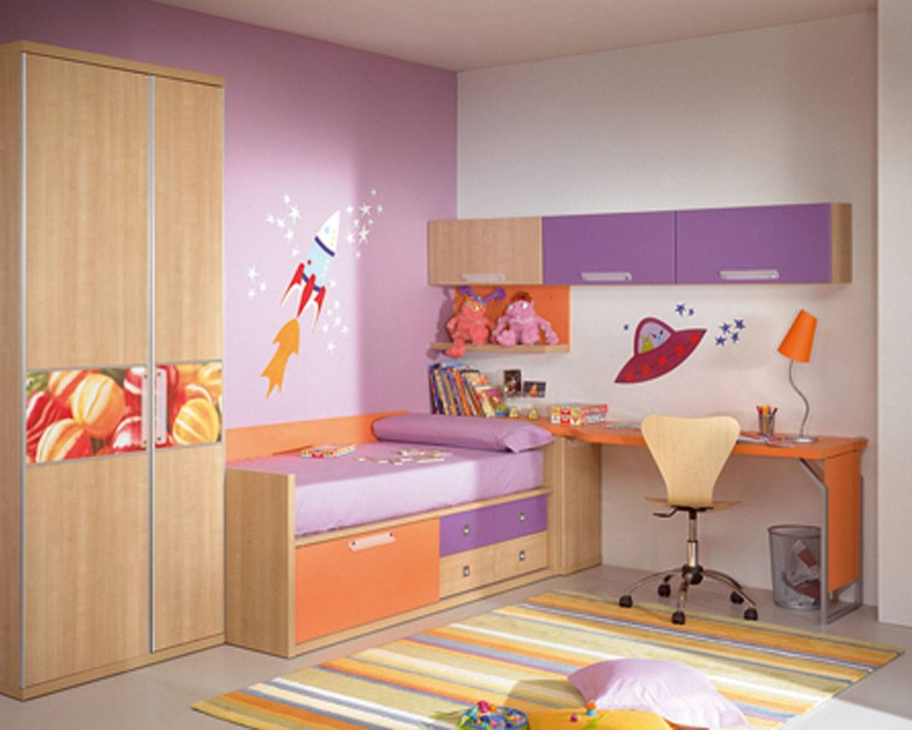Bedroom: Wooden Wardrobe And Also Cabinet With Combination Of for Bed And Wardrobes Combination (Image 7 of 15)