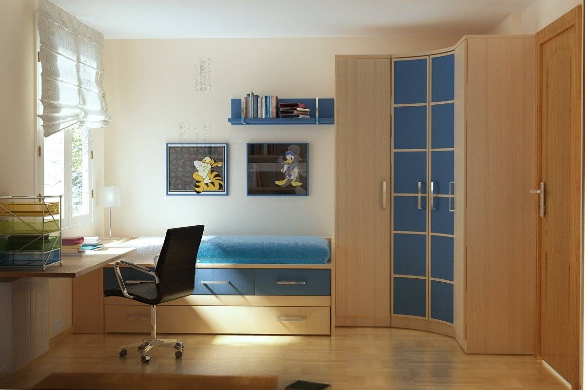 Bedrooms ~ Curtain And Tulip Chair With Sliding Closet Doors Ikea Inside Curved Corner Wardrobe Doors (View 3 of 30)