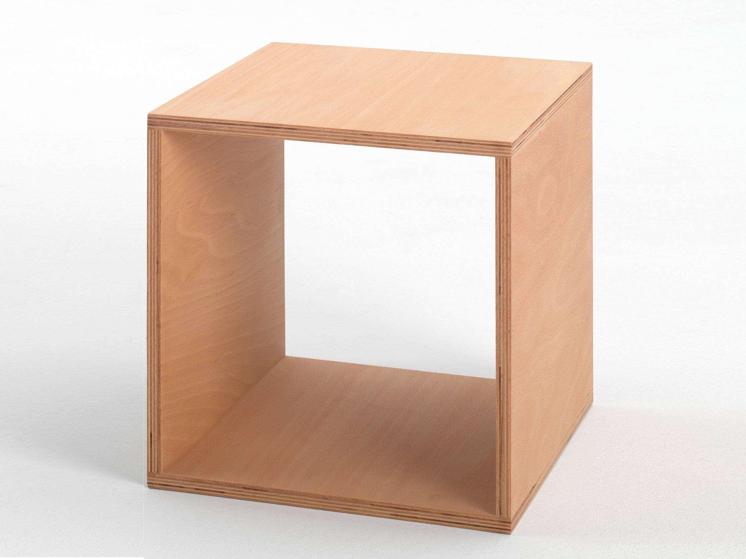 Beech Coffee Table / Bedside Table Cubetojo Möbel with Round Beech Coffee Tables (Image 3 of 30)