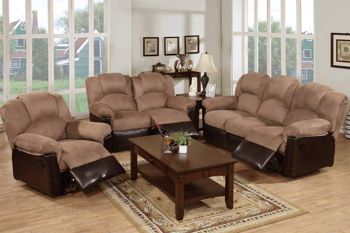 Beige Fabric Reclining Sofa - Steal-A-Sofa Furniture Outlet Los throughout Sofa Chair Recliner (Image 2 of 30)