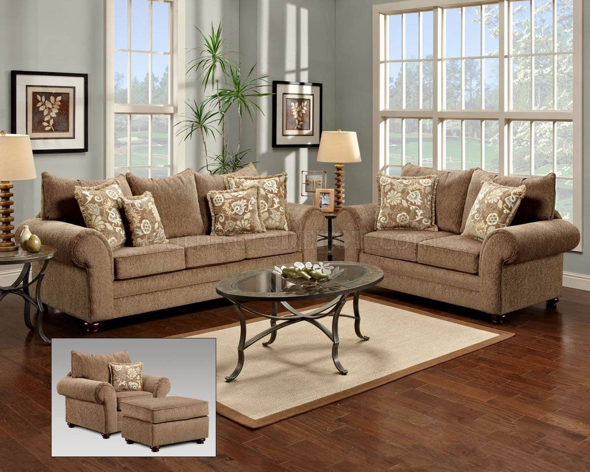 Beige Fabric Traditional Sofa & Loveseat Set W/options with Traditional Fabric Sofas (Image 2 of 30)