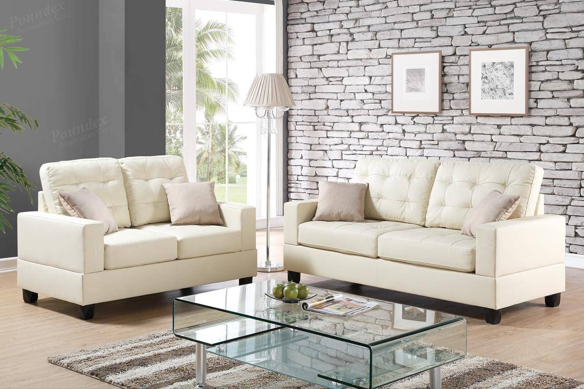 Beige Leather Sofa | Roselawnlutheran for Ivory Leather Sofas (Image 4 of 30)
