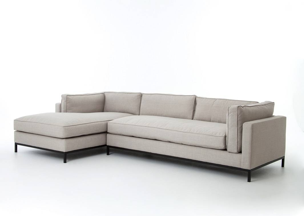 Beige Linen Sofa With Chaise Lounge inside Sofas With Chaise Longue (Image 2 of 30)
