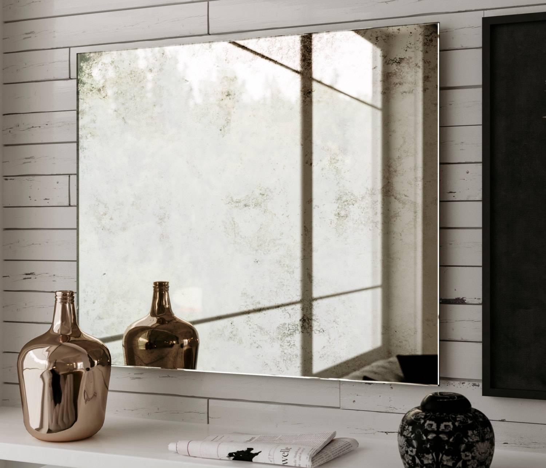 Belgian Antiqued Mirror. 24 X 22 Hanging Large Frameless for Antiqued Mirrors (Image 9 of 25)