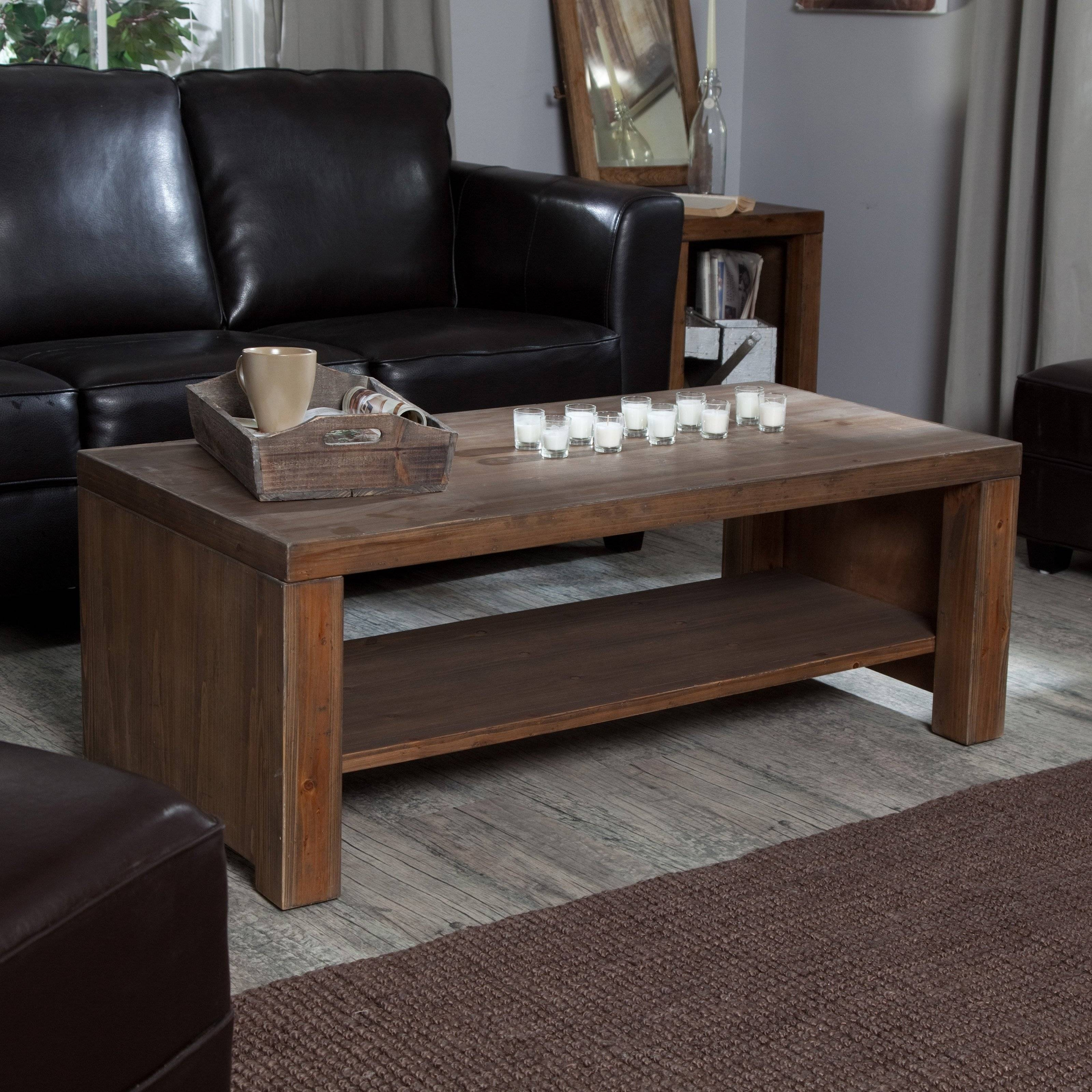 Belham Living Brinfield Rustic Solid Wood Coffee Table | Hayneedle Within Coffee Tables Solid Wood (View 14 of 30)