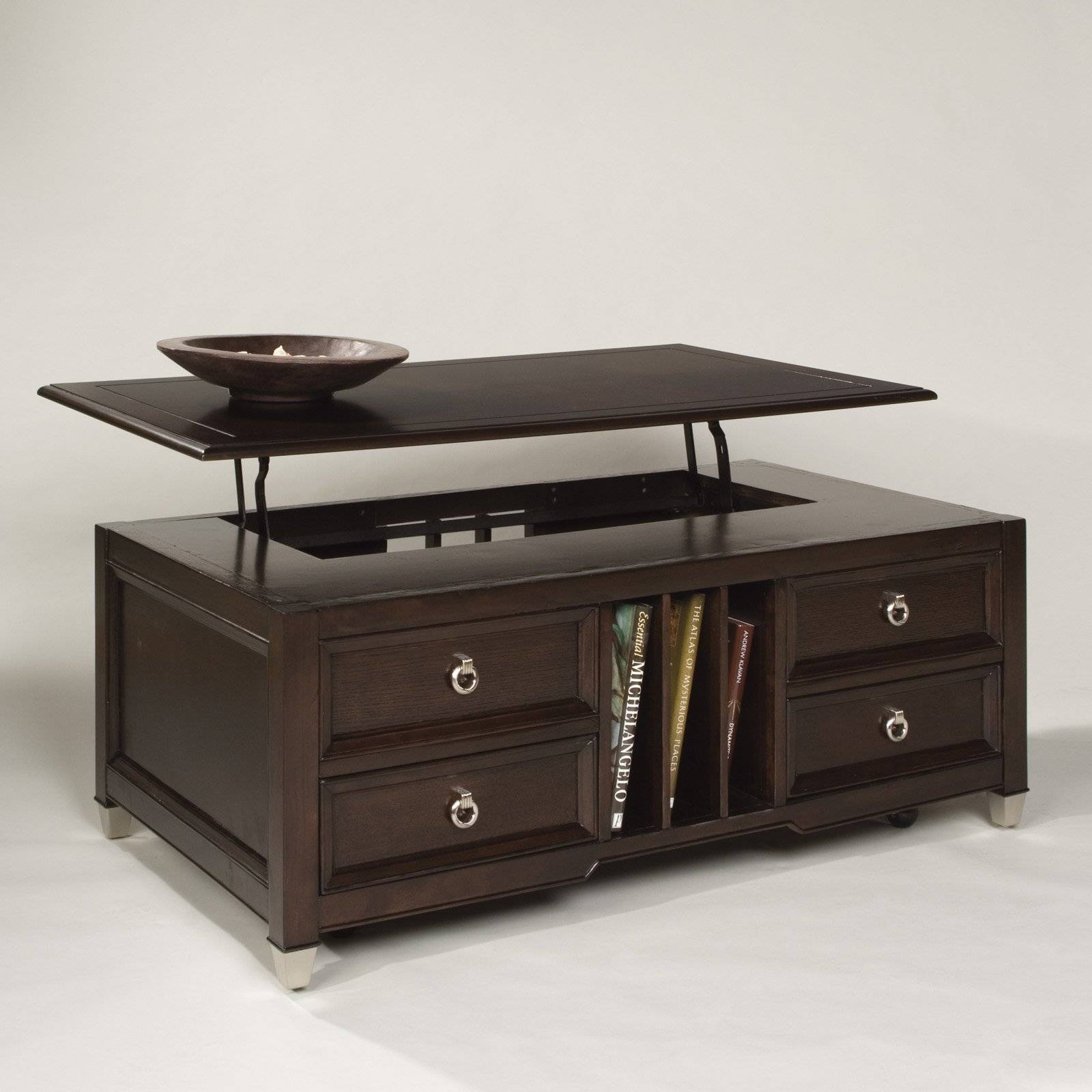 Belham Living Hampton Storage And Lift Top Coffee Table | Hayneedle inside Quality Coffee Tables (Image 4 of 30)