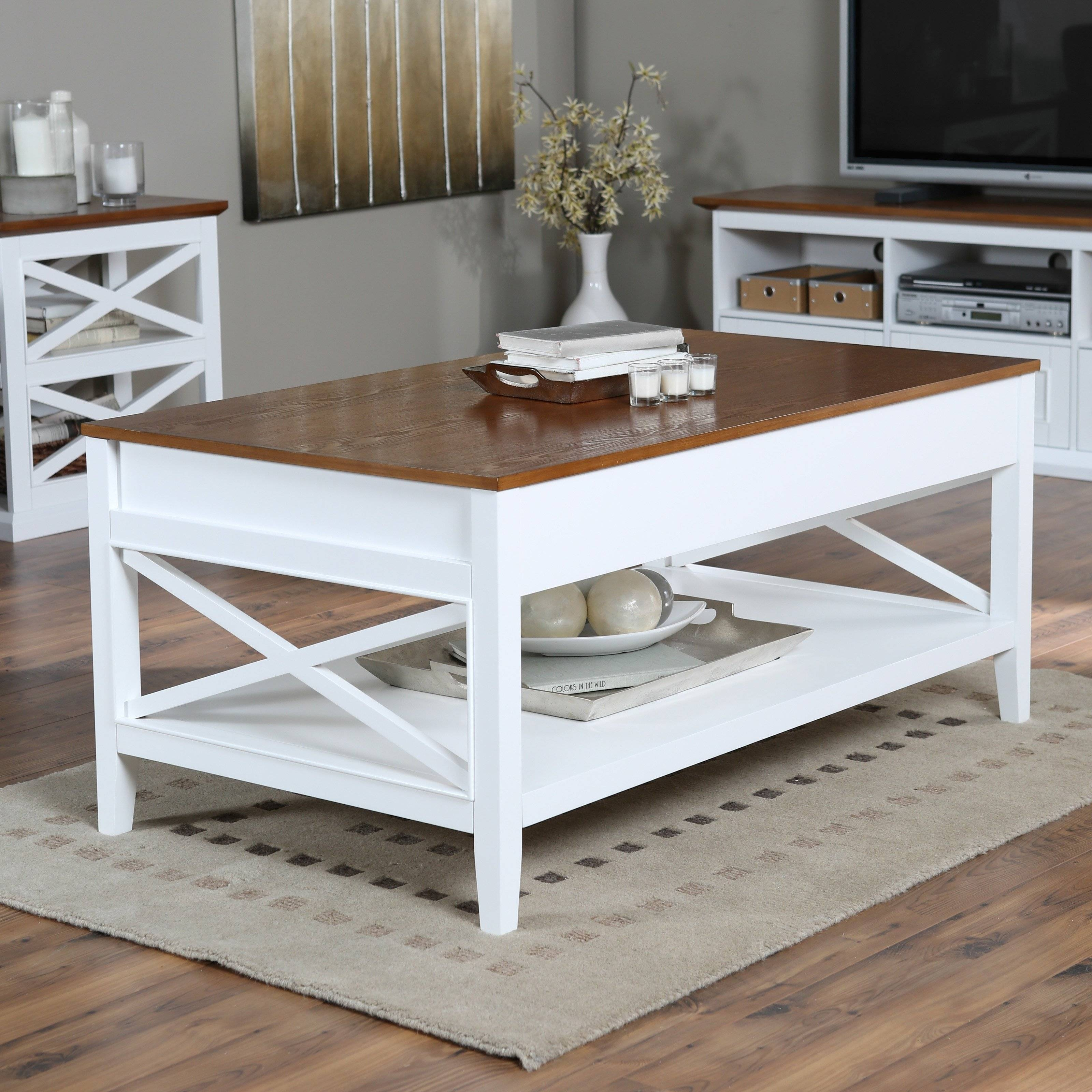 Belham Living Hampton Storage And Lift Top Coffee Table | Hayneedle throughout Lift Coffee Tables (Image 2 of 30)