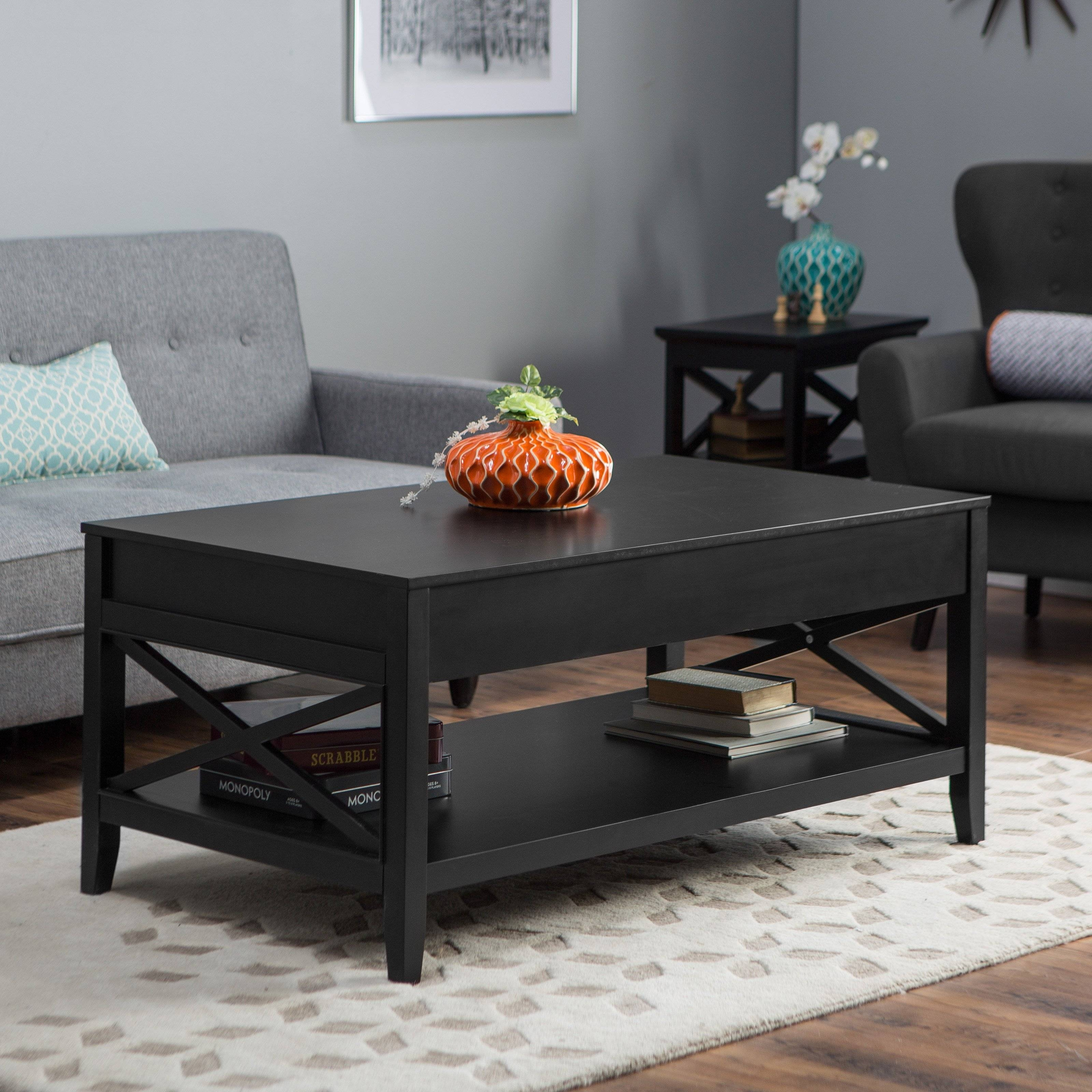 Belham Living Hampton Storage And Lift Top Coffee Table | Hayneedle with regard to Coffee Tables With Lifting Top (Image 2 of 30)