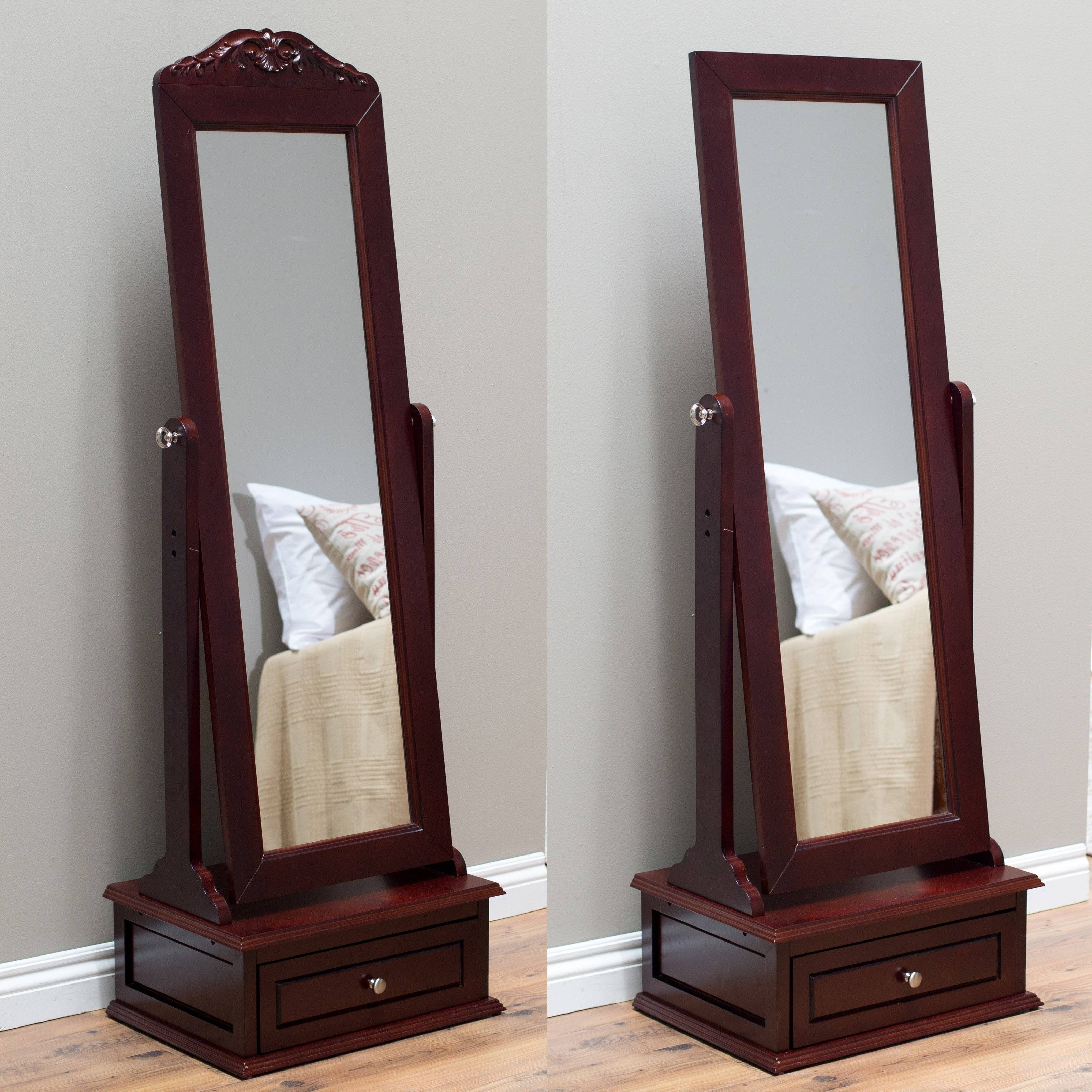 Belham Living Removable Decorative Top Cheval Mirror - Cherry inside Cheval Mirrors (Image 6 of 25)