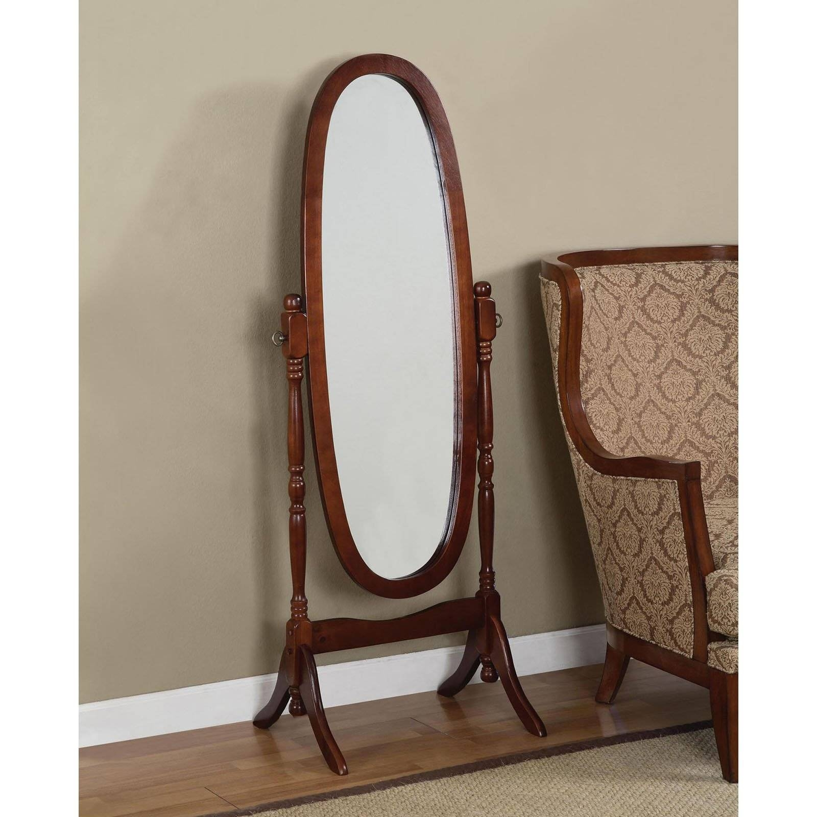 Belham Living Removable Decorative Top Cheval Mirror - Cherry within Cheval Mirrors (Image 7 of 25)