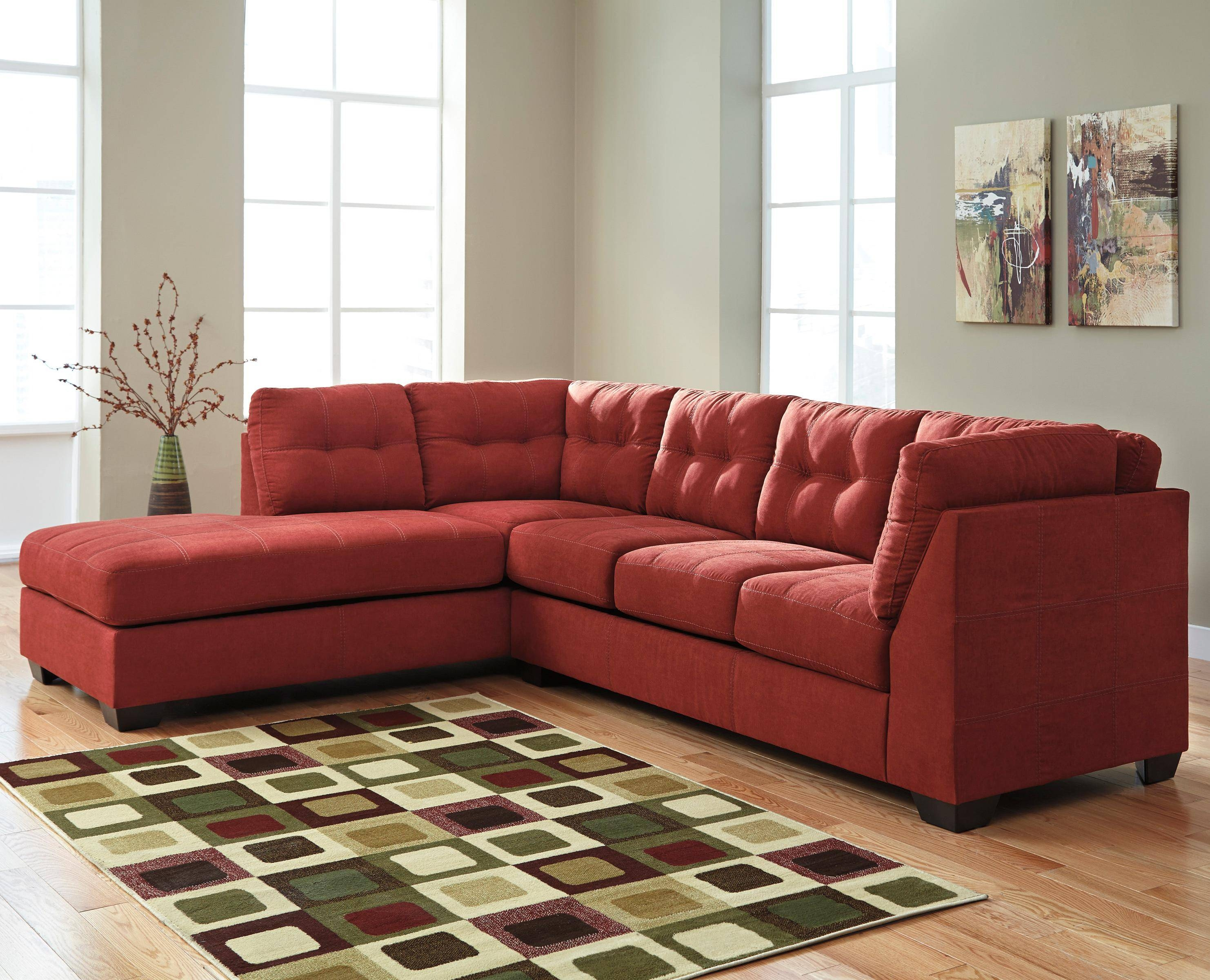 Benchcraft Maier – Sienna 2 Piece Sectional With Left Chaise With Sectional Sofa With 2 Chaises (View 11 of 30)